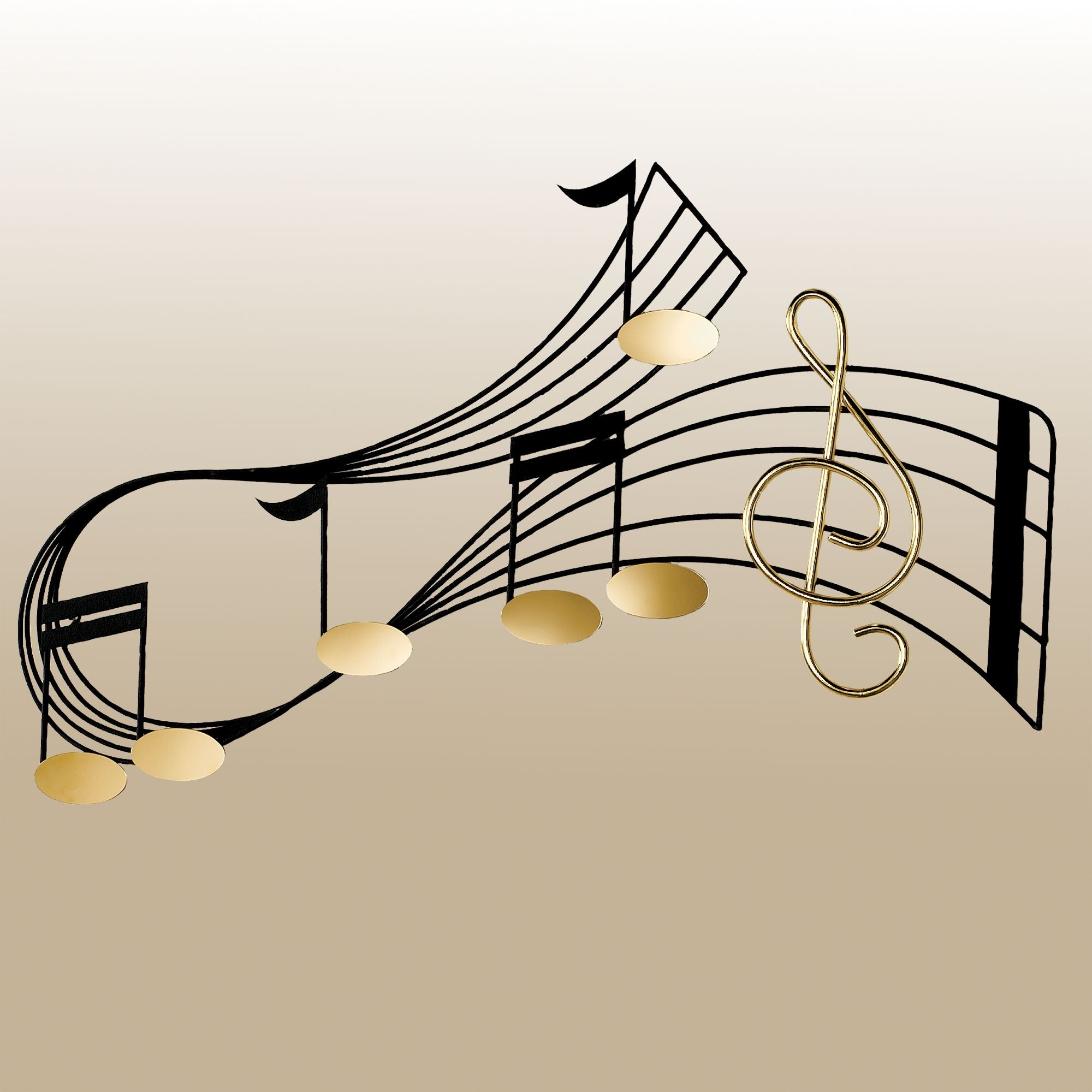 Well Known Rhythm Music Staff Metal Wall Sculpture Pertaining To Music Metal Wall Art (View 14 of 15)