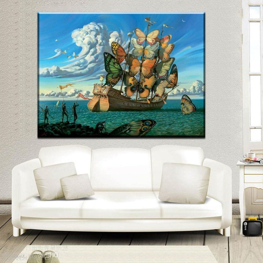 Well Known Salvador Dali Wall Art Throughout 2018 Zz2060 Salvador Dali Still Life Butterfly And Ship Oil (View 6 of 15)