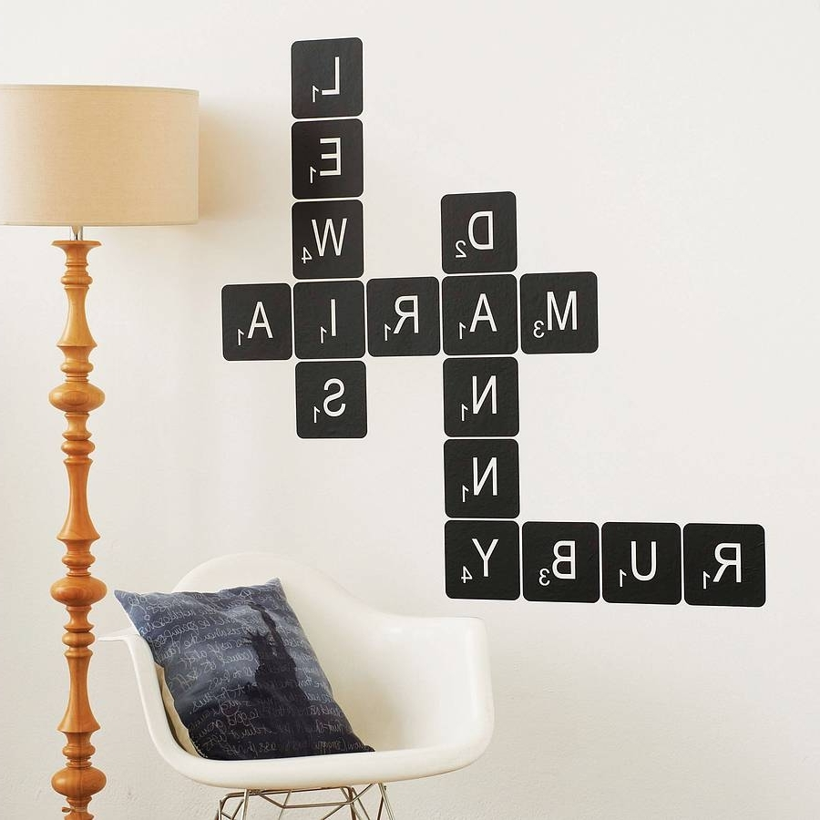 Well Known Scrabble Letter Wall Art Intended For Letter Tile Wall Stickerthe Bright Blue Pig (View 11 of 15)