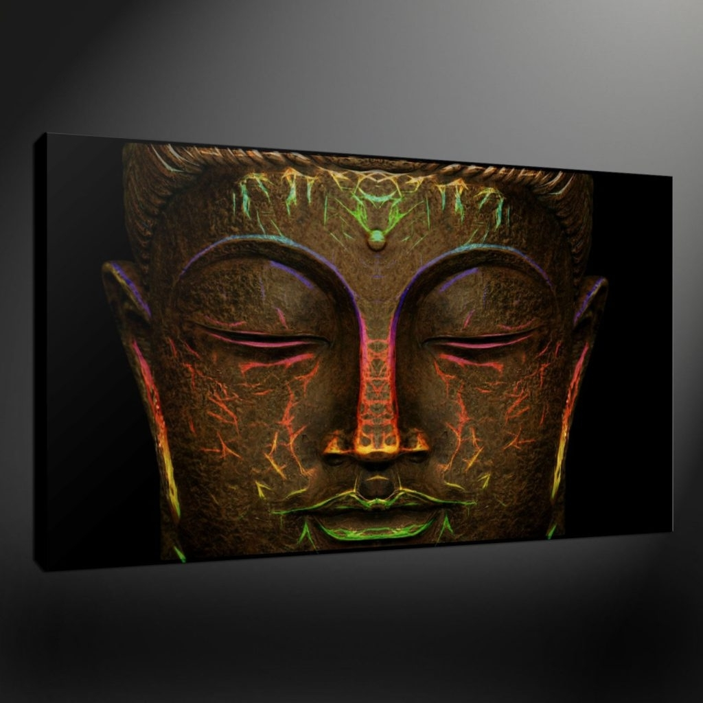 Well Known Sensational Design Buddha Canvas Wall Art Together With 48  Details Regarding Large Buddha Wall