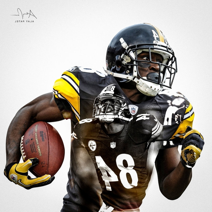 Well Known Steelers Wall Art With Regard To Antonio Brown – Pittsburgh Steelersalaypatel On Deviantart (View 15 of 15)