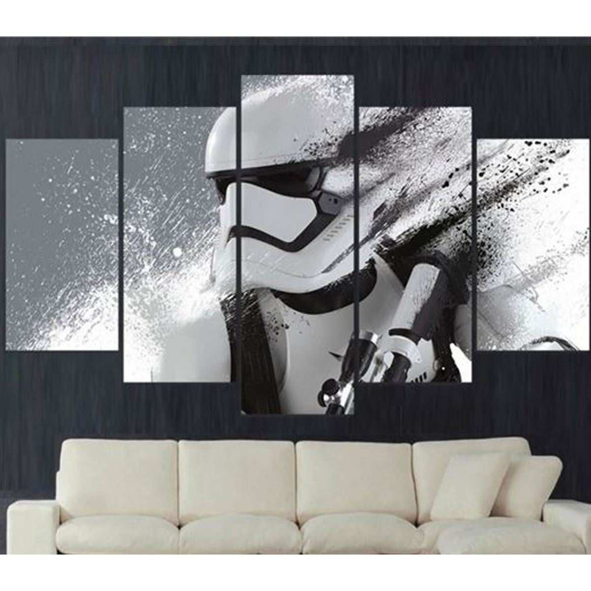 Well Known Stormtrooper 5 Piece Canvas Limited Edition Oneshopexpress Within Limited Edition Wall Art (View 14 of 15)