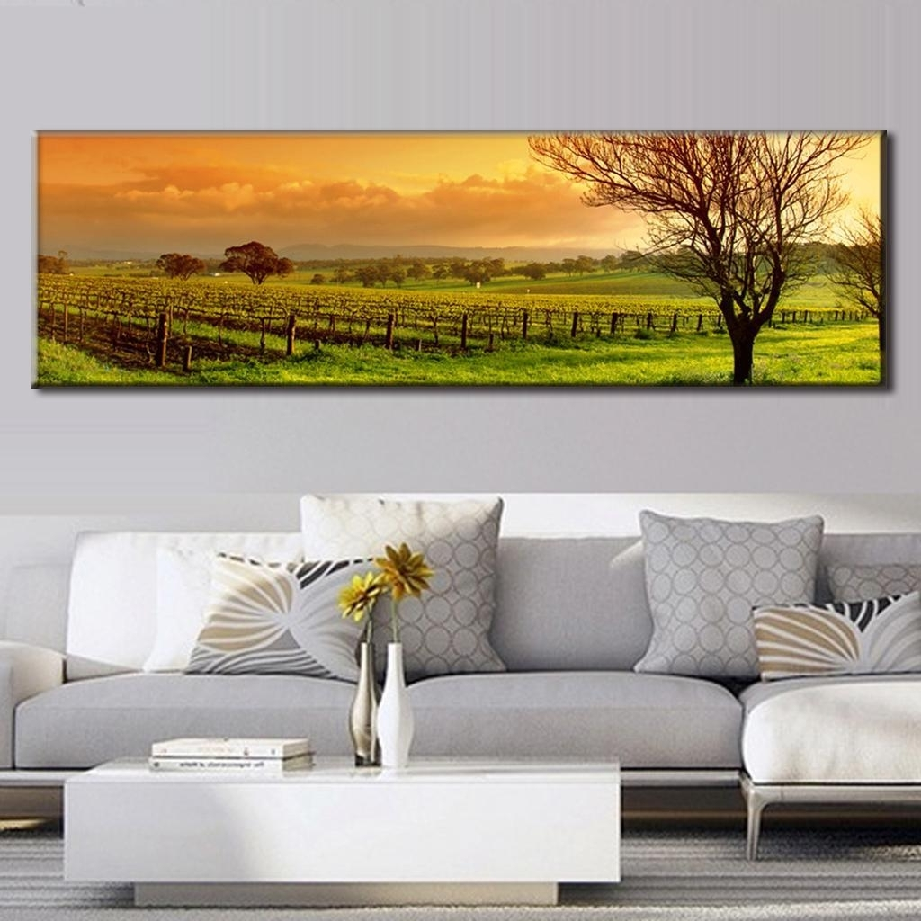 Well Known Super Large Single Picture Landscape Vineyard Canvas Printed With Regard To Vineyard Wall Art (View 12 of 15)