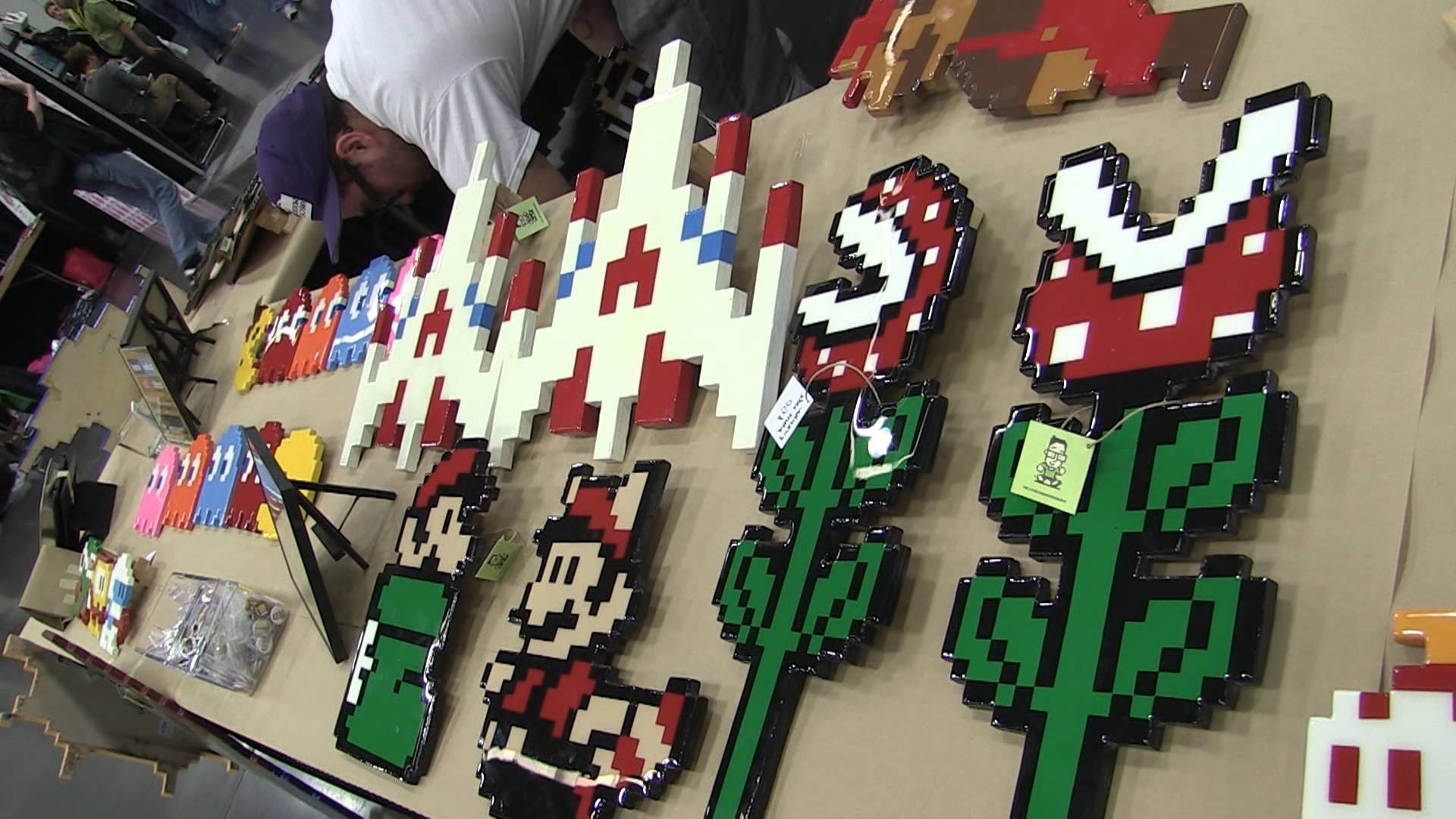 Well Known The Wooden Arcade (Handmade Wooden Pixel Art) – Youtube With Pixel Mosaic Wall Art (View 15 of 15)