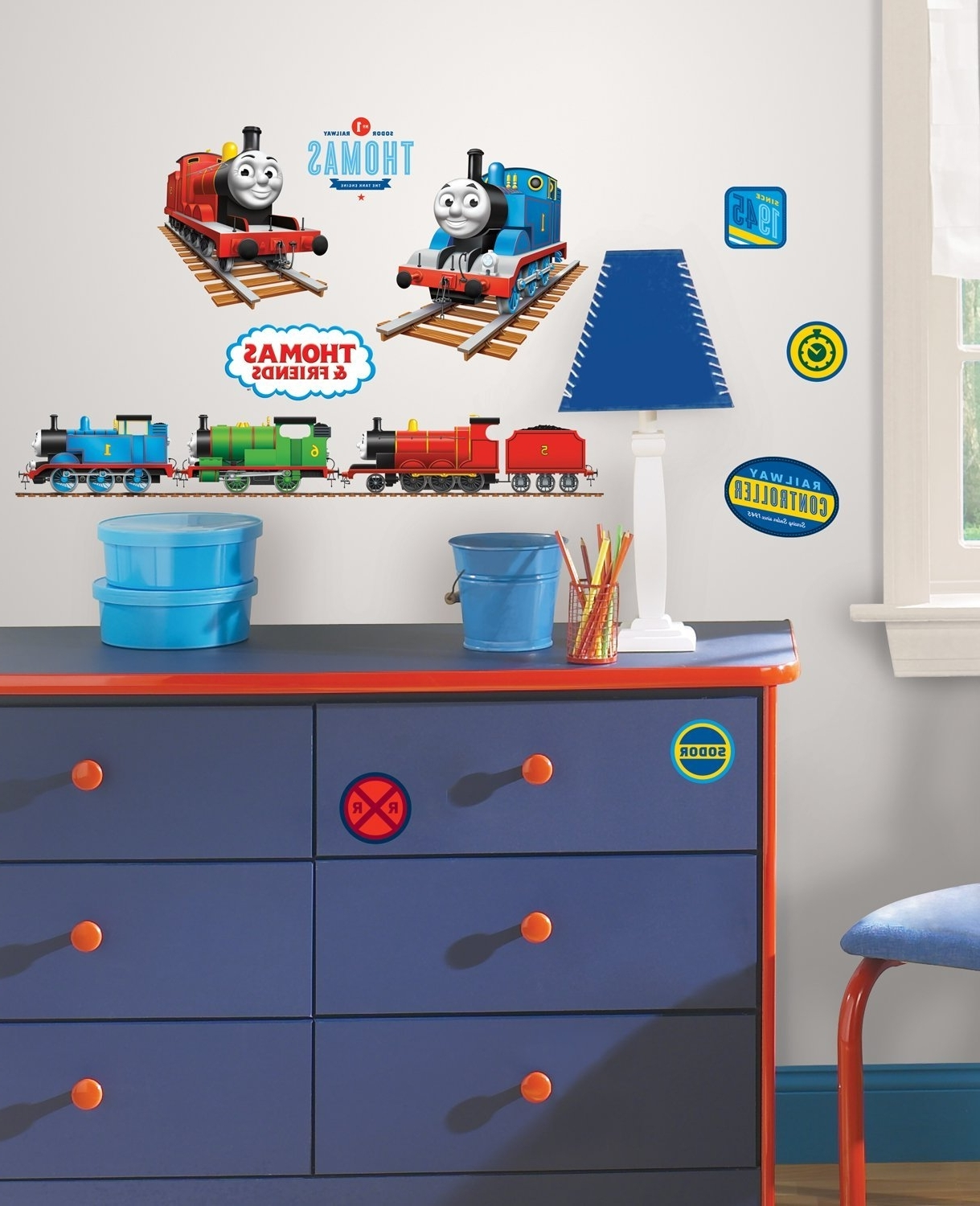 Well Known Thomas The Tank Wall Art Throughout Amazon: Thomas The Tank Engine Wall Decals: Home & Kitchen (View 12 of 15)