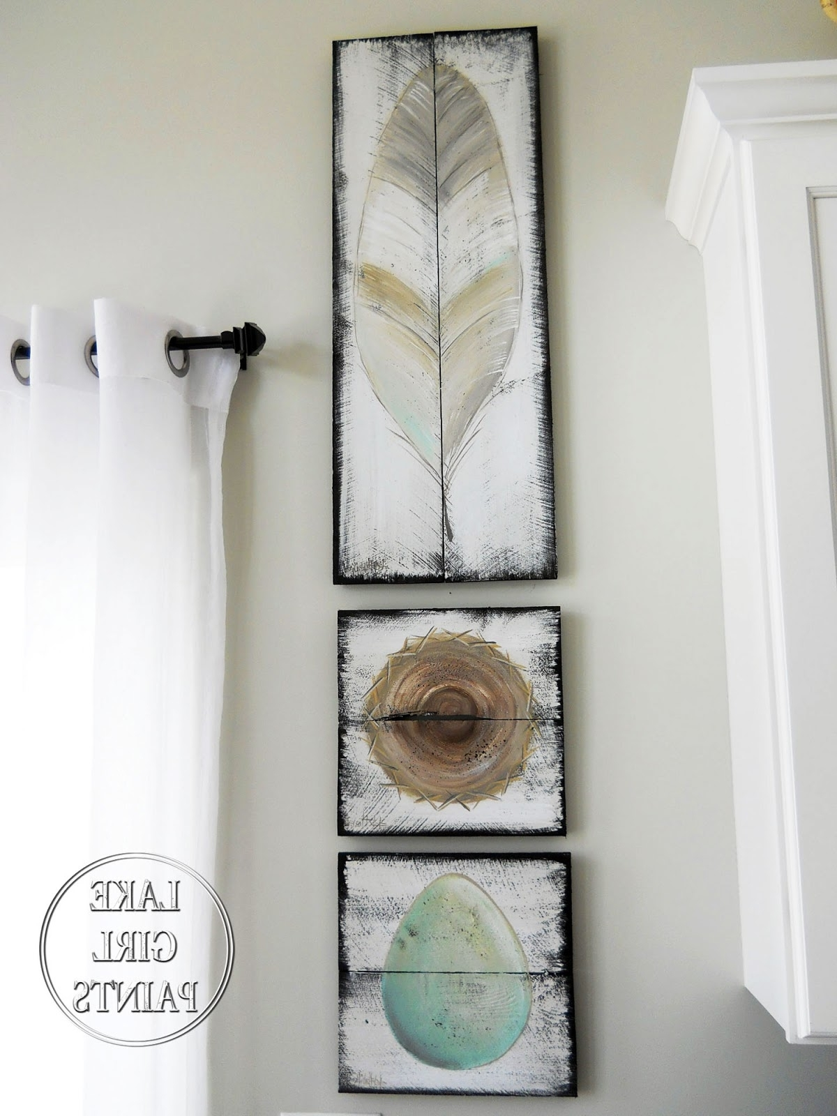 Well Known Topiary Wall Art Throughout Lake Girl Paints: Topiary Garden Art On Rustic Boards (View 14 of 15)