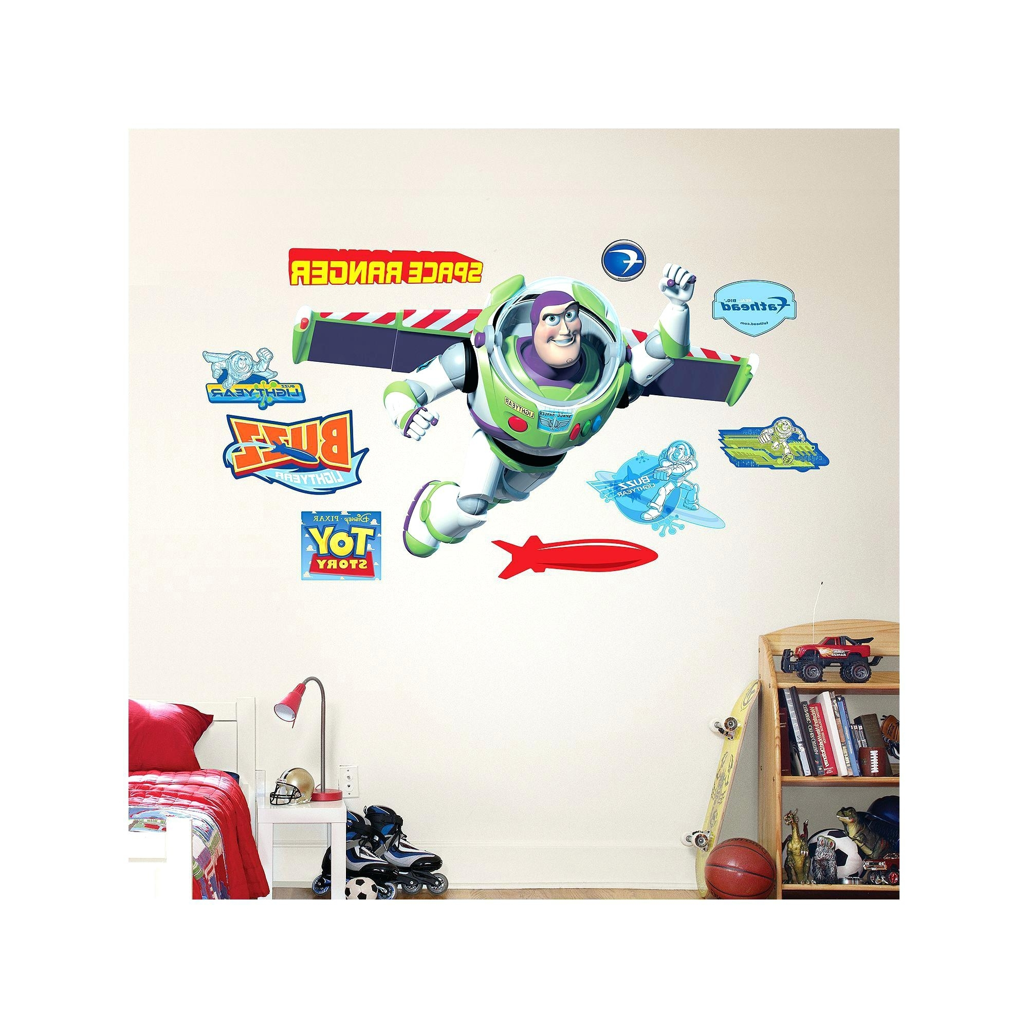 Well Known Toy Story Wall Stickers With Pixar Wall Decals Toy Story Wall Stickers Toy Story Smashed Wall (View 12 of 15)