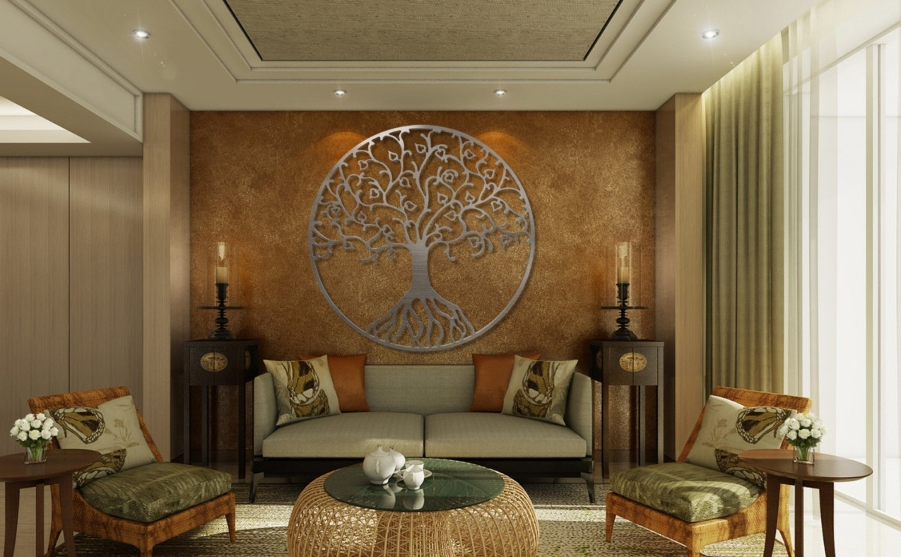 Well Known Tree Of Life Metal Wall Art Metal Tree Wall Art Circle Wall For 3d Pertaining To 3d Metal Wall Art (View 13 of 15)