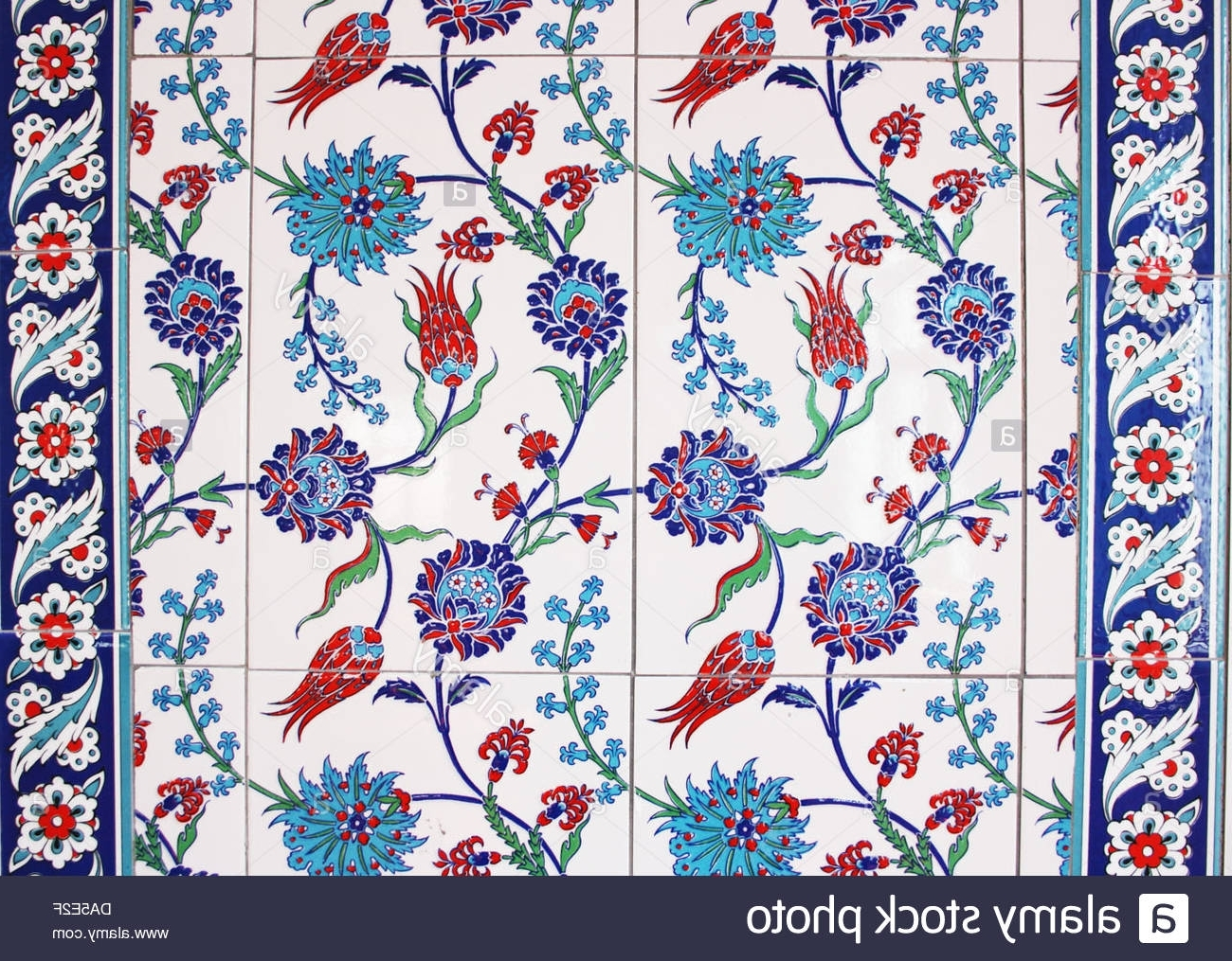 Well Known Turkish Wall Art Intended For Turkish (ottoman) Wall Tiles Stock Photo: 57898471 – Alamy (View 8 of 15)