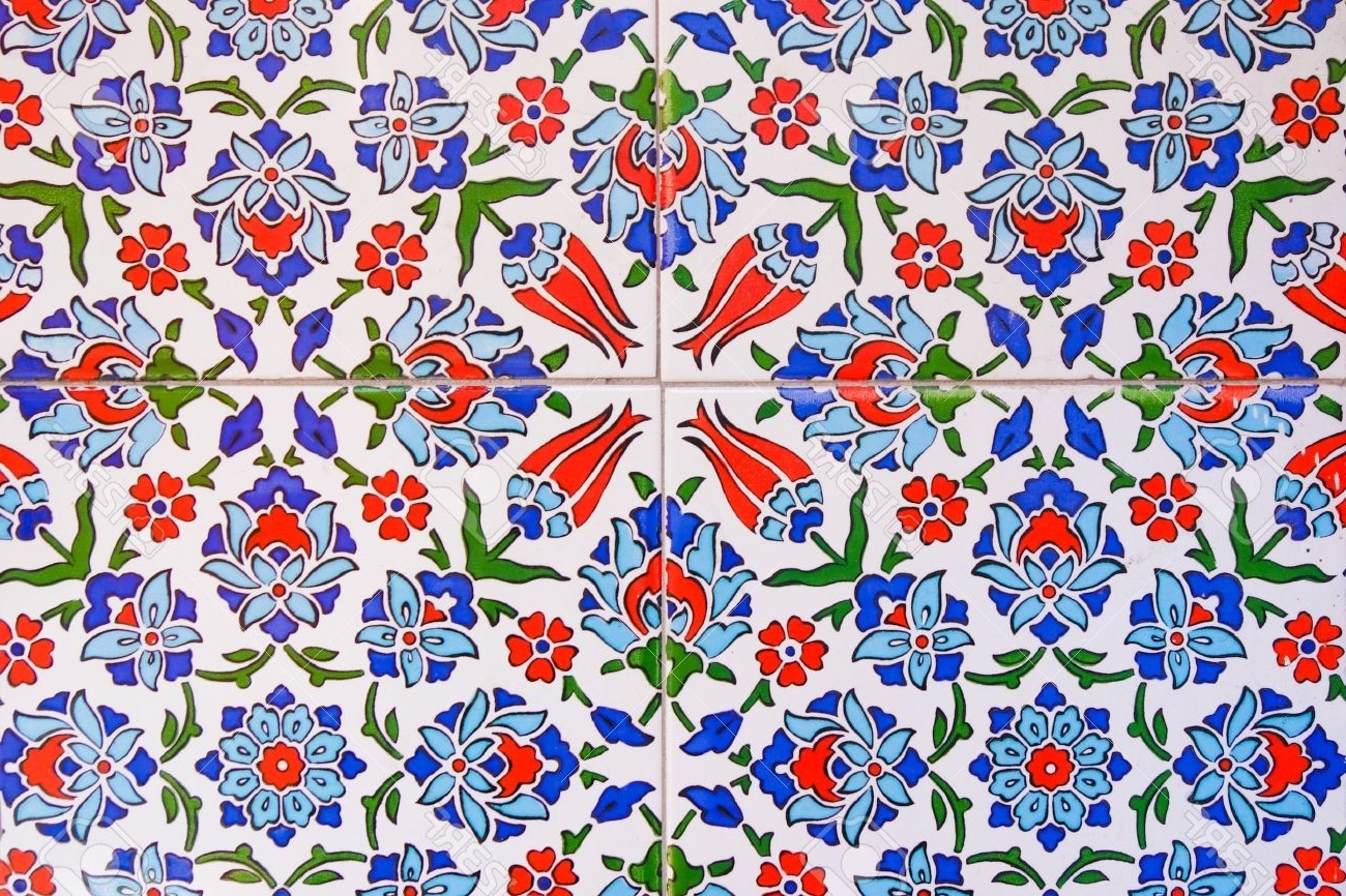 Well Known Turkish Wall Tile Pattern Stock Photo, Picture And Royalty Free Regarding Turkish Wall Art (View 15 of 15)