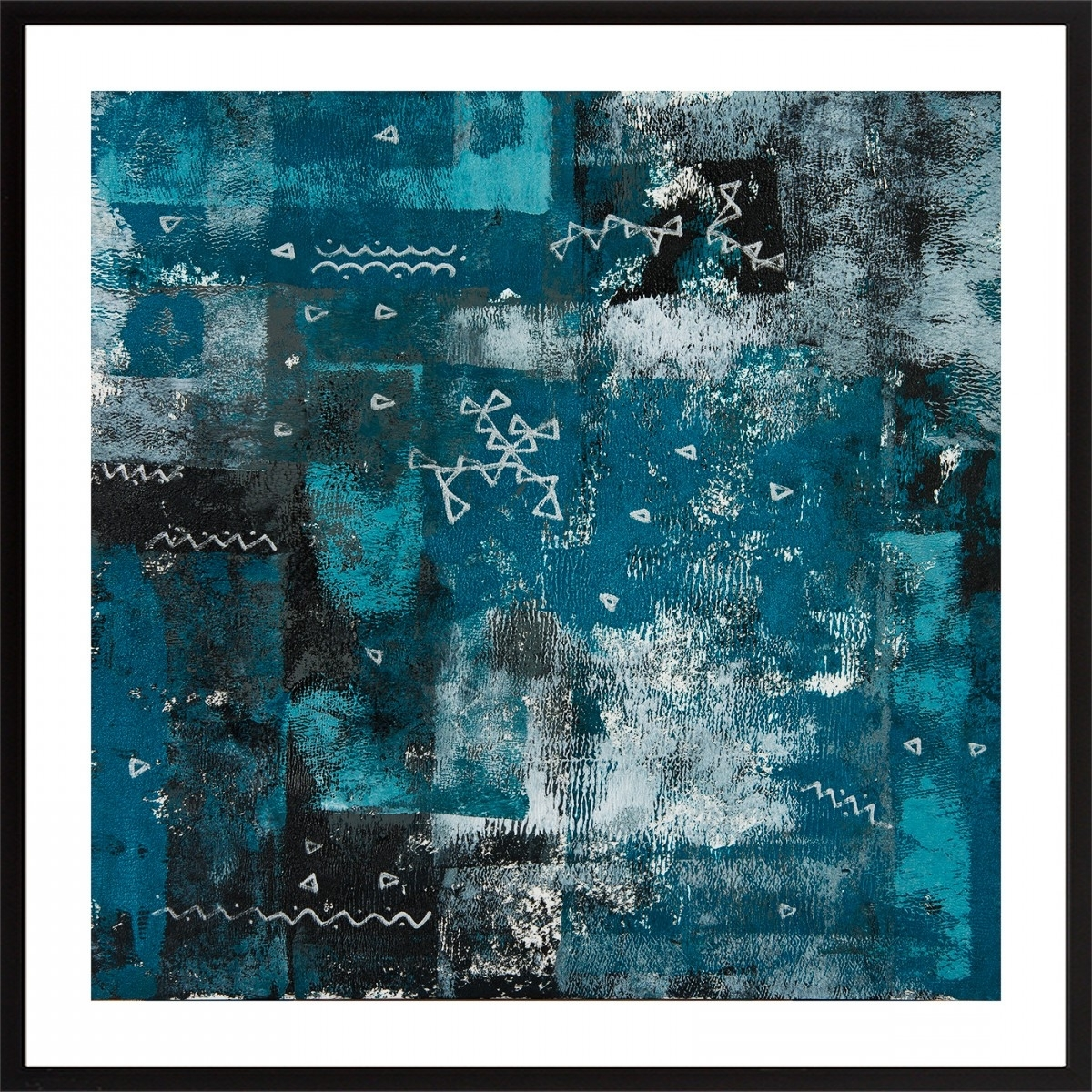"Well Known Turquoise And Black Wall Art In Set Of Two 24"" X 12""qiqigallery Turquoise Black White Silver (View 14 of 15)"