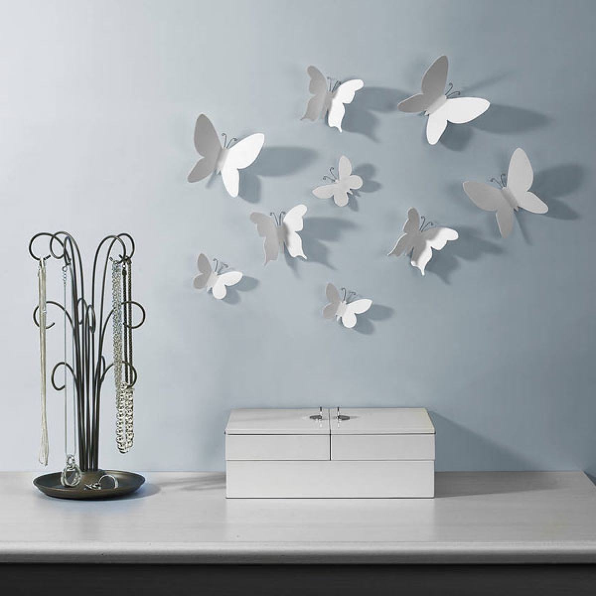 Well Known Umbra Mariposa Wall Decor U2013 Wall Mounted Butterflies With Regard  To Umbra 3D Flower