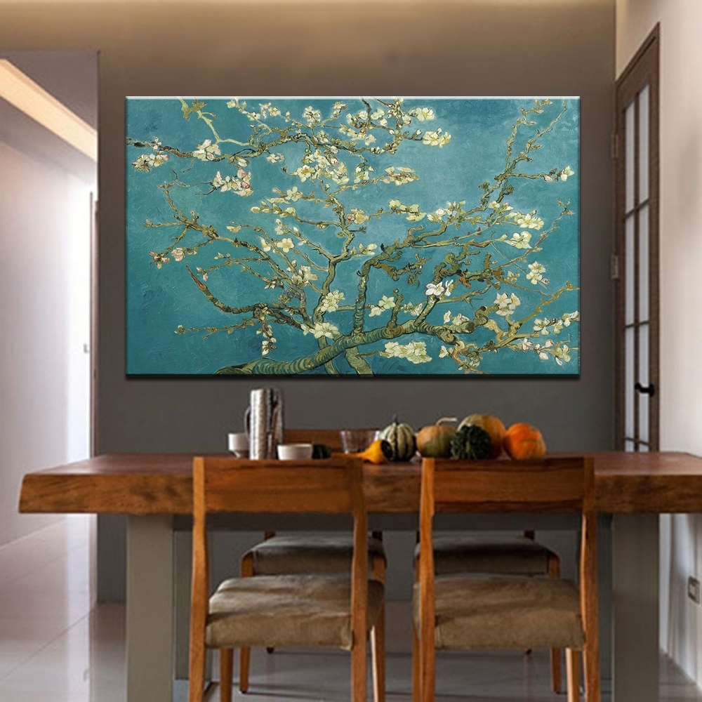 Well Known Vincent Van Gogh Wall Art With Blossoming Almond Tree Oil Painting Of Vincent Van Gogh (View 14 of 15)