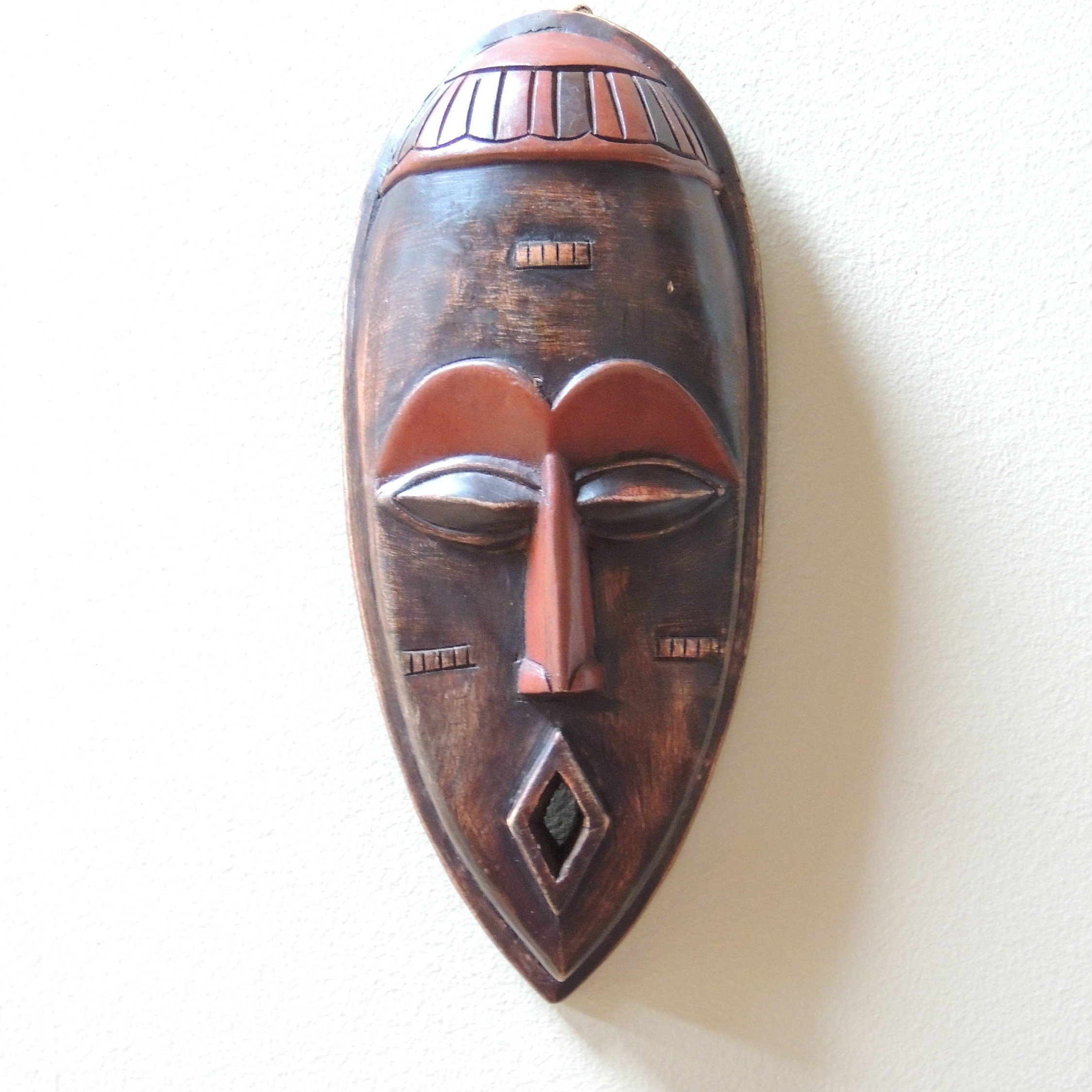 Featured Photo of Wooden Tribal Mask Wall Art