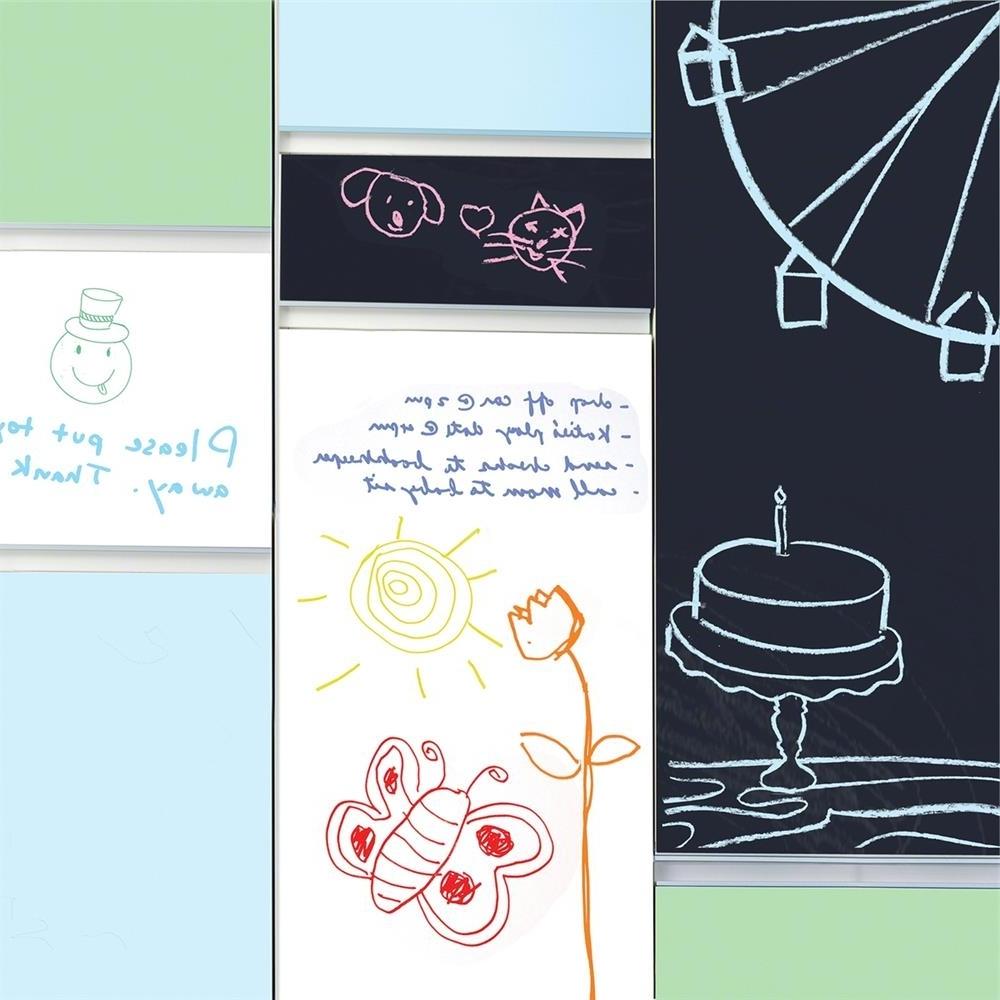 Well Known W01095 – Wallcandy Arts W01095 Chalkboard/whiteboard Combo Regarding Wallcandy Arts (View 7 of 15)