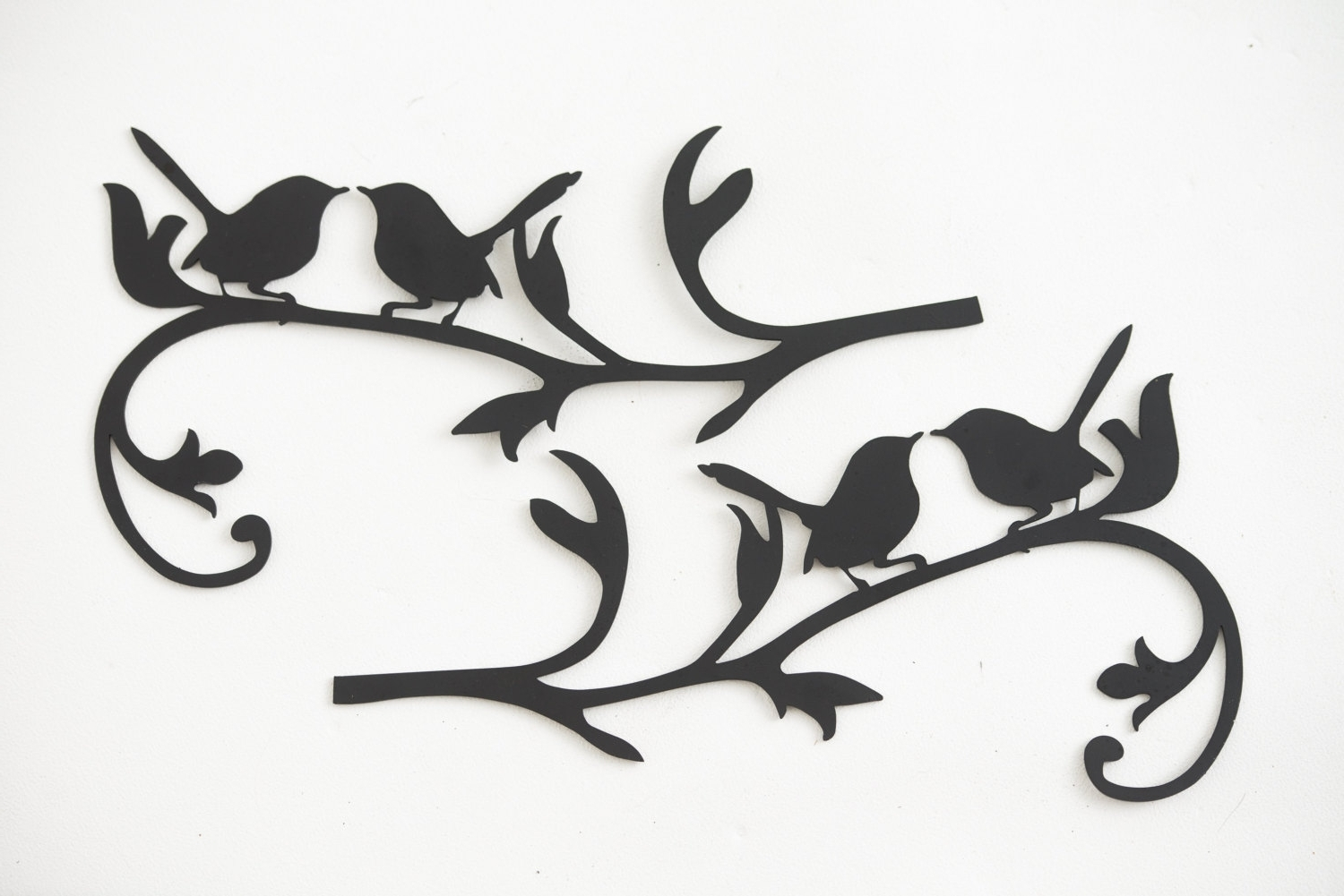 Well Known Wall Art Designs: Metal Bird Wall Art Hand Drawn And Laser Cut Intended For Metal Wall Art Birds In Flight (View 13 of 15)