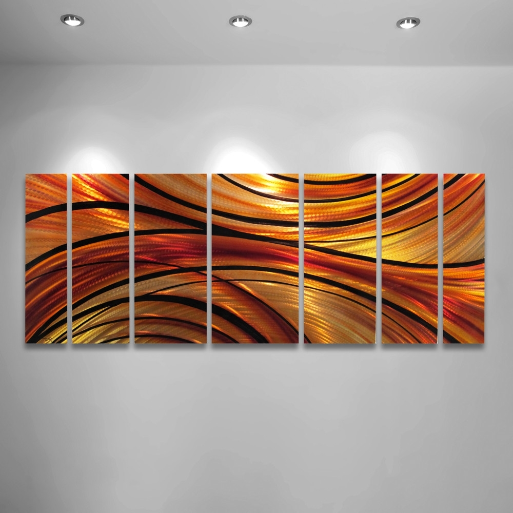 Well Known Wall Art Designs: Orange Wall Art Orange Large Modern Abstract Intended For Large Abstract Metal Wall Art (View 15 of 15)