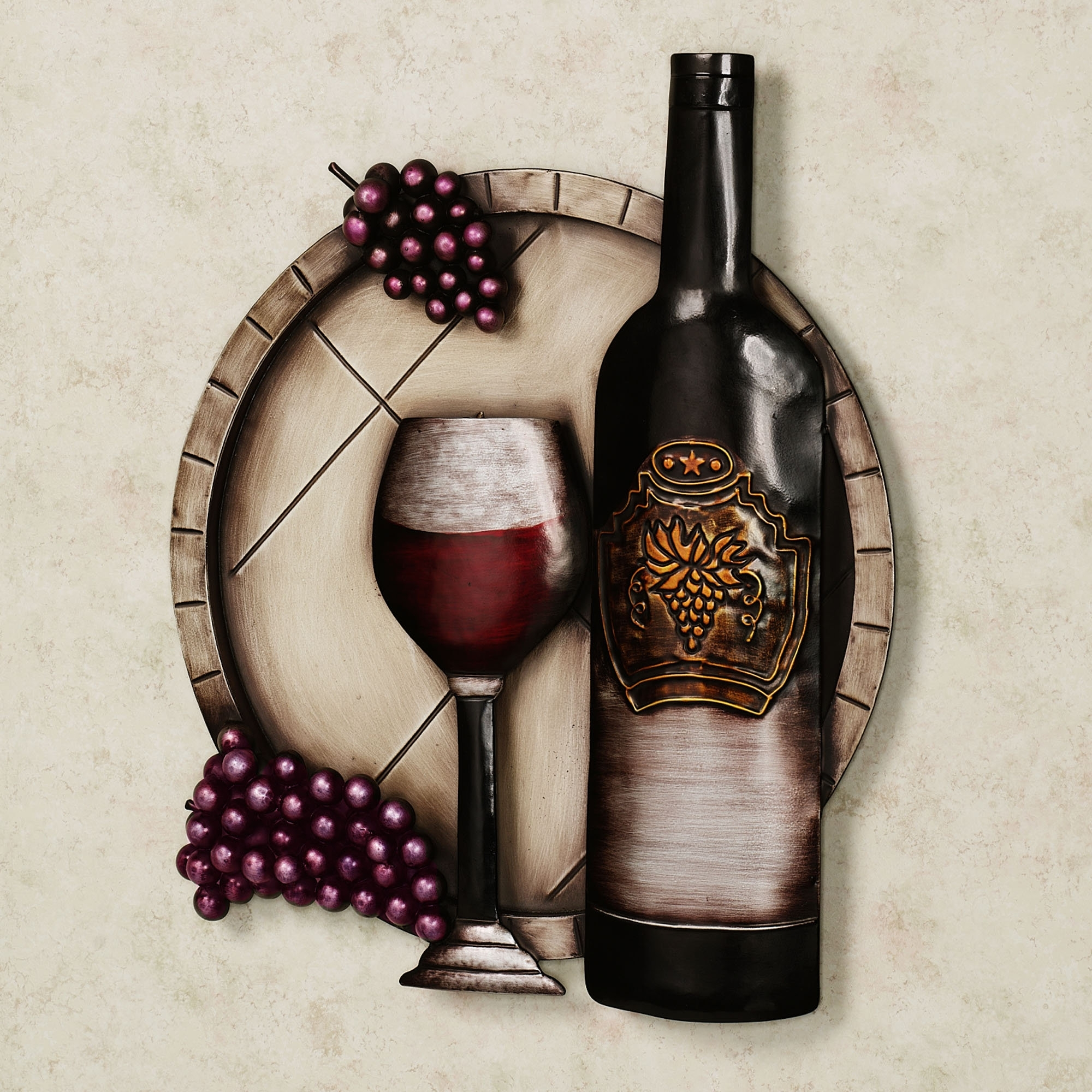 Well Known Wall Art Ideas Design : Bottle Grape Wall Art Wine Simple Classic With Grape Vine Metal Wall Art (View 14 of 15)