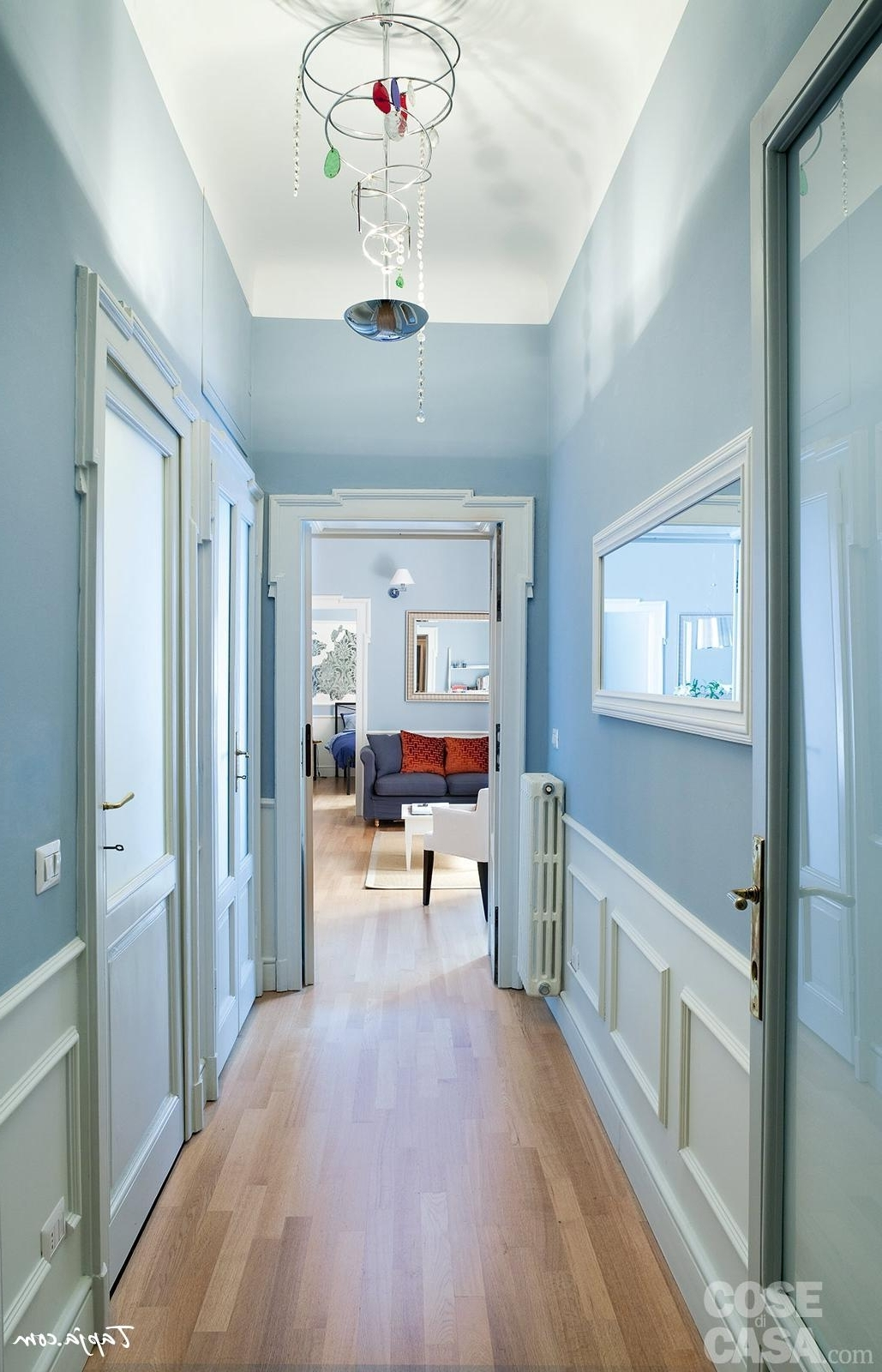Well Known Wall Art Ideas For Hallways With Regard To Black White Stripped Floor Rug Hallway Wall Art Ideas Blue White (View 15 of 15)