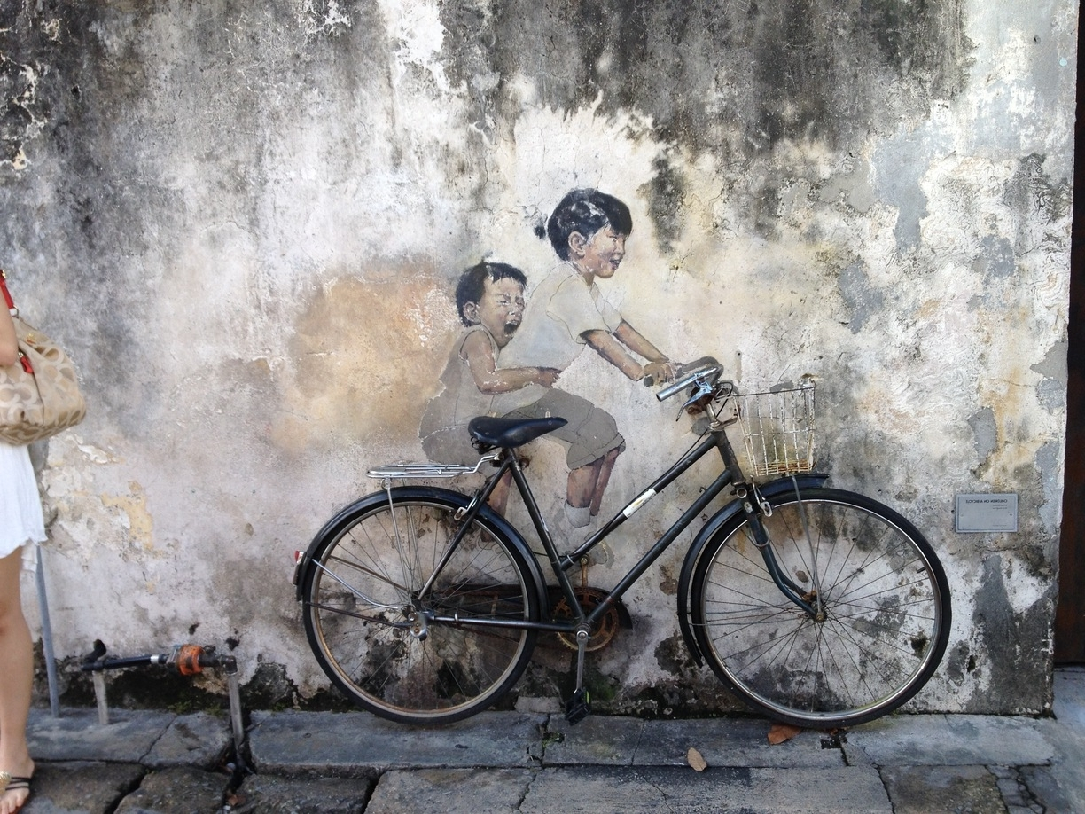 Well Known Wall Art Kids On Bicycle, George Town, Malaysia – Magnificent Wall For Cycling Wall Art (View 14 of 15)
