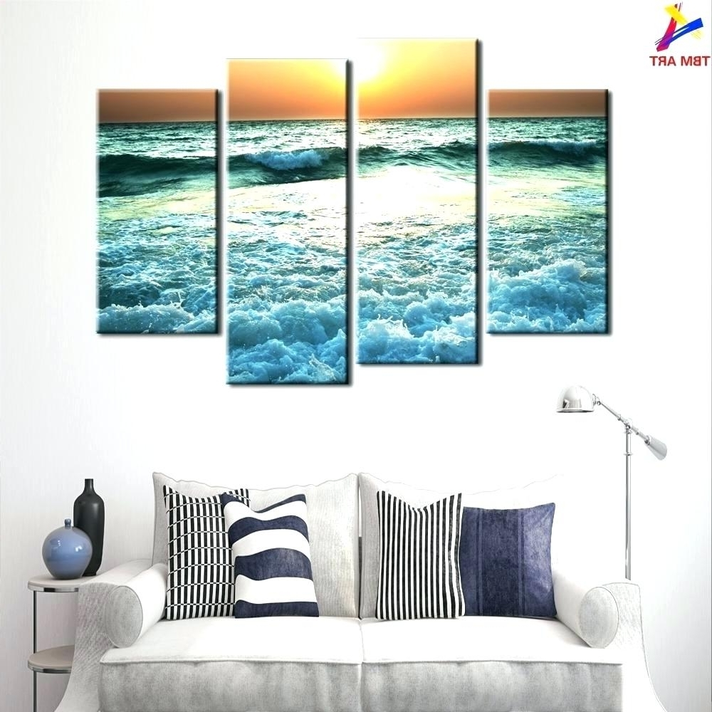 Well Known Wall Arts Sea Themed Metal Wall Art Baby Beach Themed Canvas Sea Pertaining To Beach Wall Art (View 14 of 15)