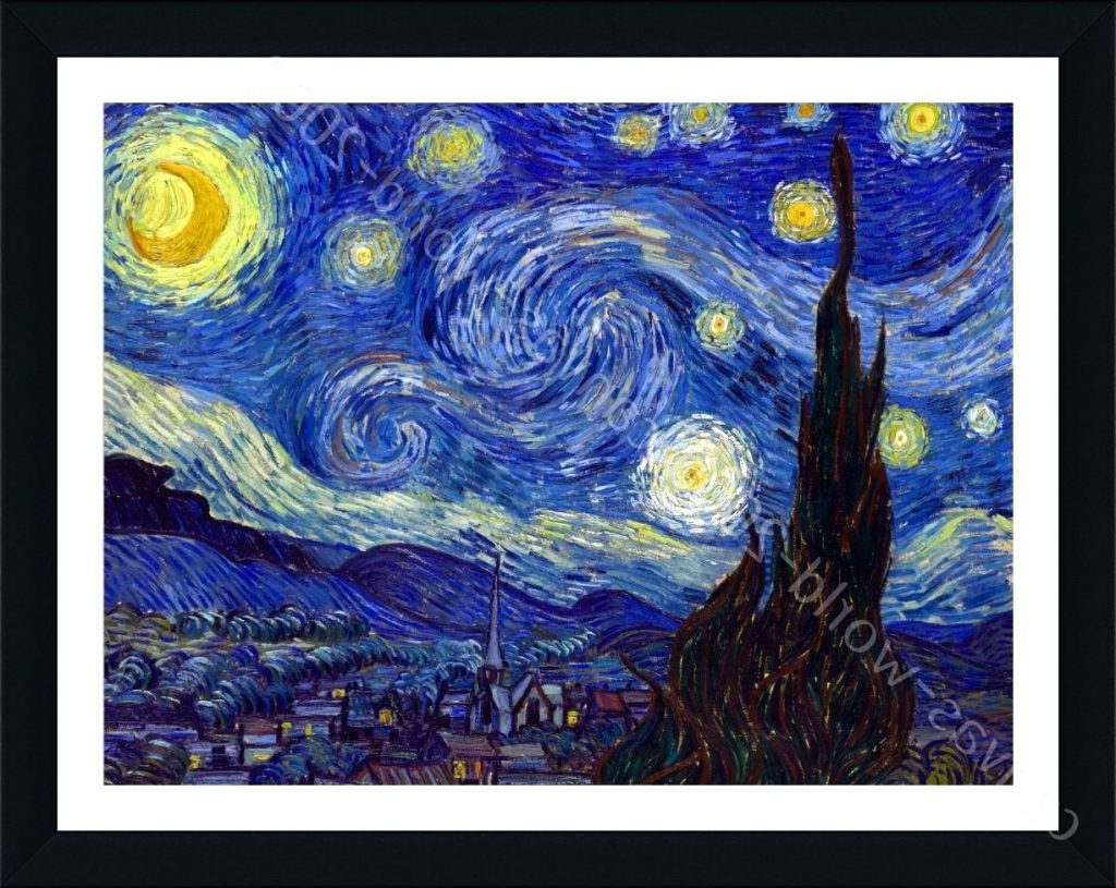 Well Known Wall Arts ~ Van Gogh Starry Night Wall Art Van Gogh Wall Art Van In Vincent Van Gogh Wall Art (View 5 of 15)