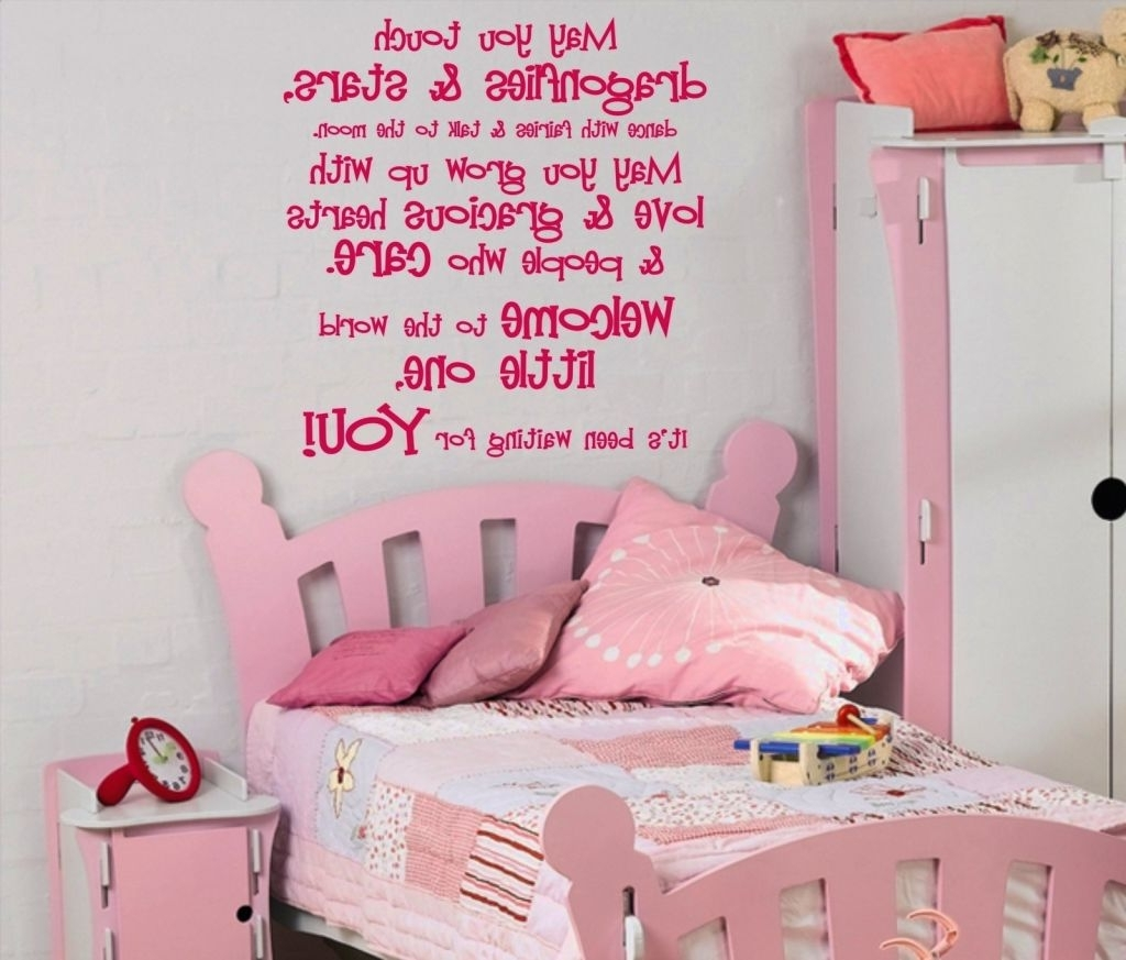 Well Known Wall Decal: Brilliant Wall Decals For Girl Room Ideas Childrens With Regard To Wall Art For Little Girl Room (View 13 of 15)