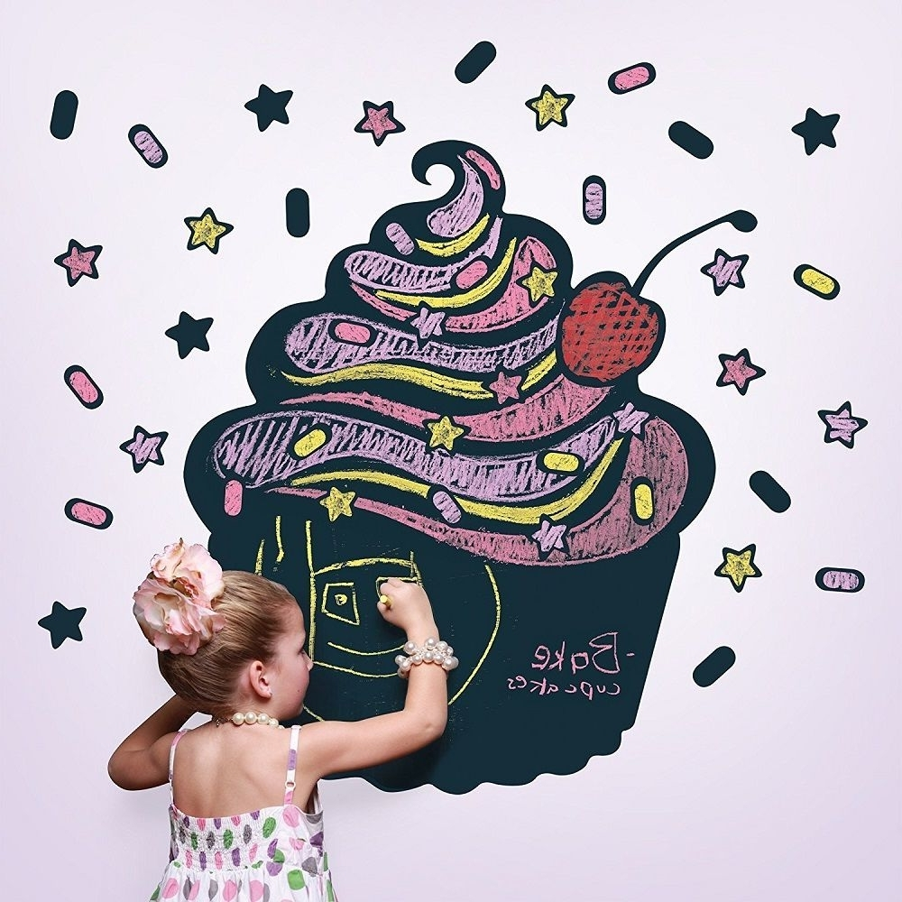 Well Known Wallcandy Arts Black Cupcake Chalkboard Kit » Gadget Flow Pertaining To Wallcandy Arts (View 6 of 15)
