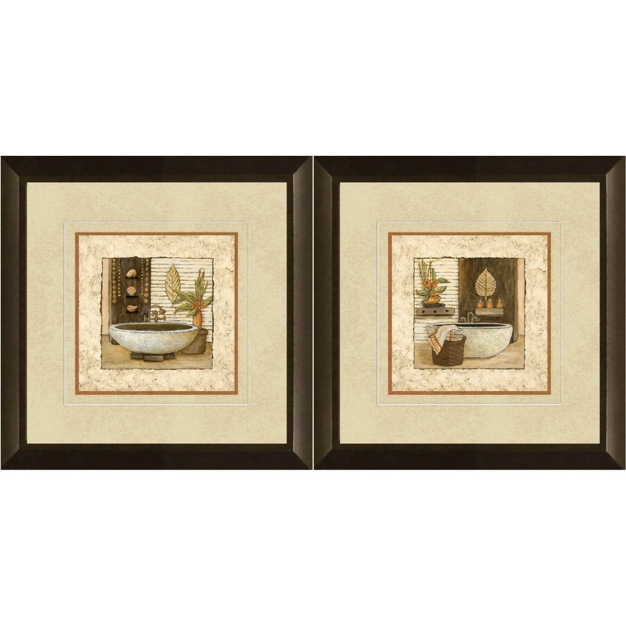 Well Known Walmart Framed Art Intended For Shop 12 In W X 12 In H Bathroom Framed Art At Lowes (View 14 of 15)