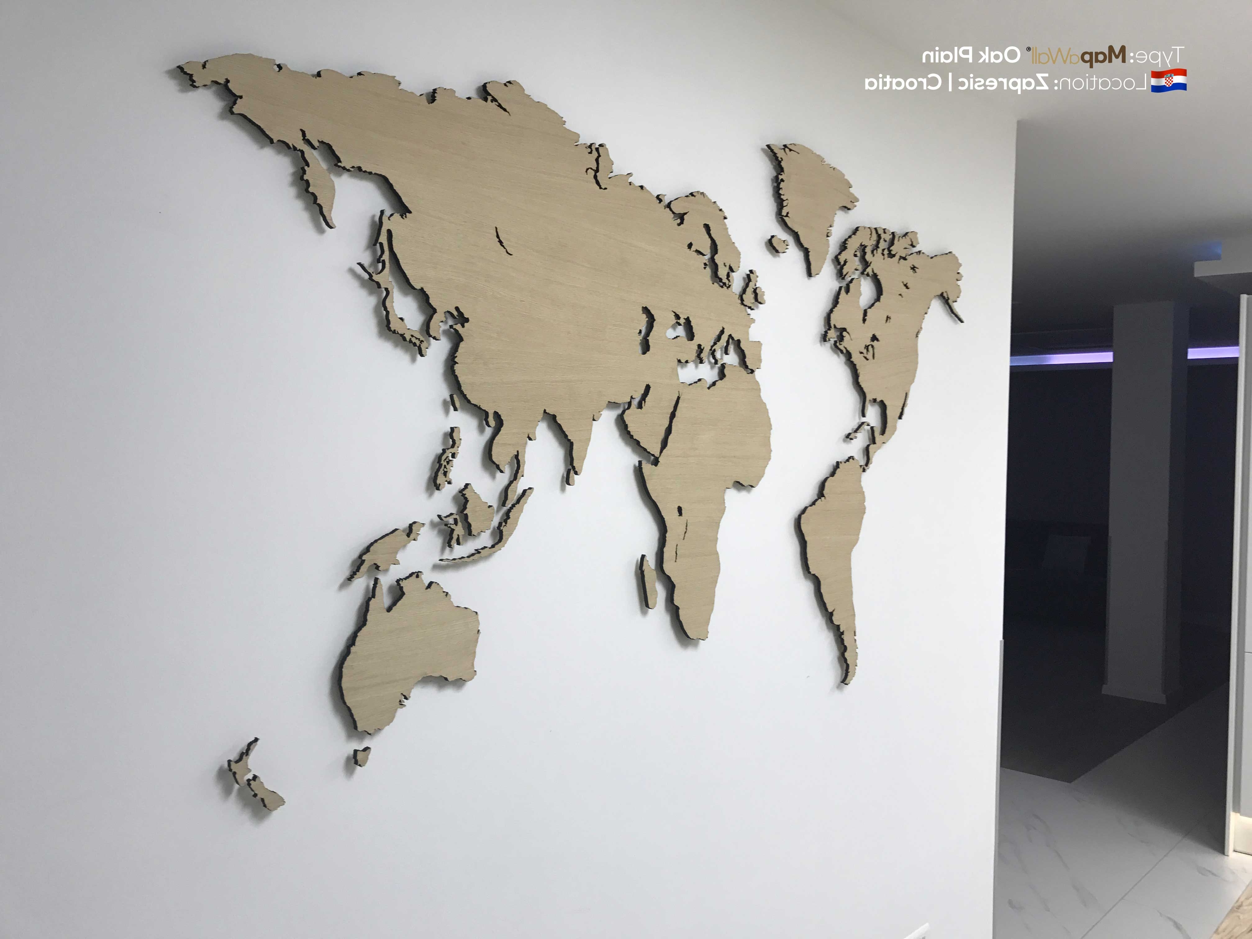 Well Known World Map Wood Wall Art Inside Amazing Decoration World Map Wood Wall Art Clever Throughout (View 8 of 15)