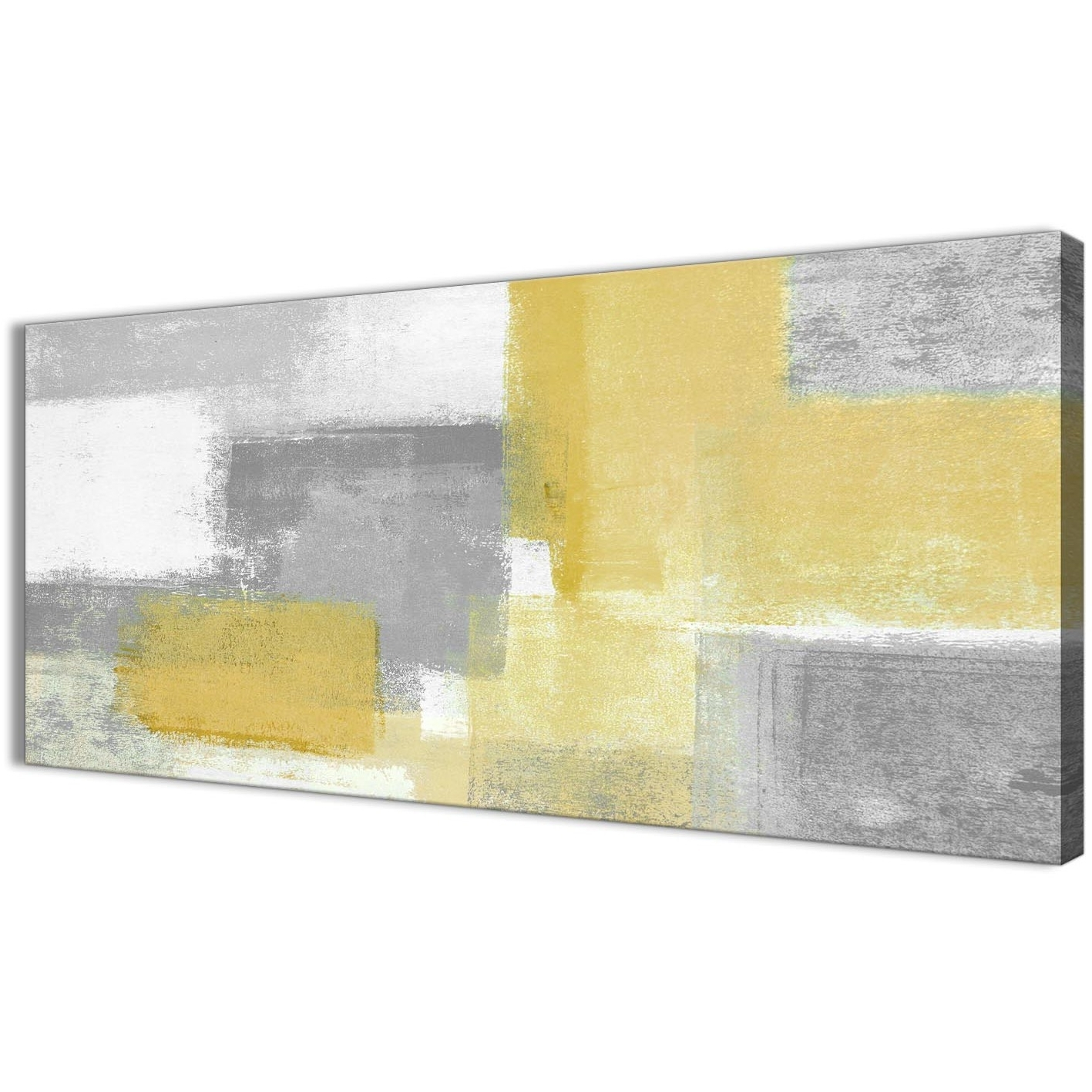 Well Known Yellow And Grey Abstract Wall Art For Mustard Yellow Grey Living Room Canvas Wall Art Accessories (View 5 of 15)