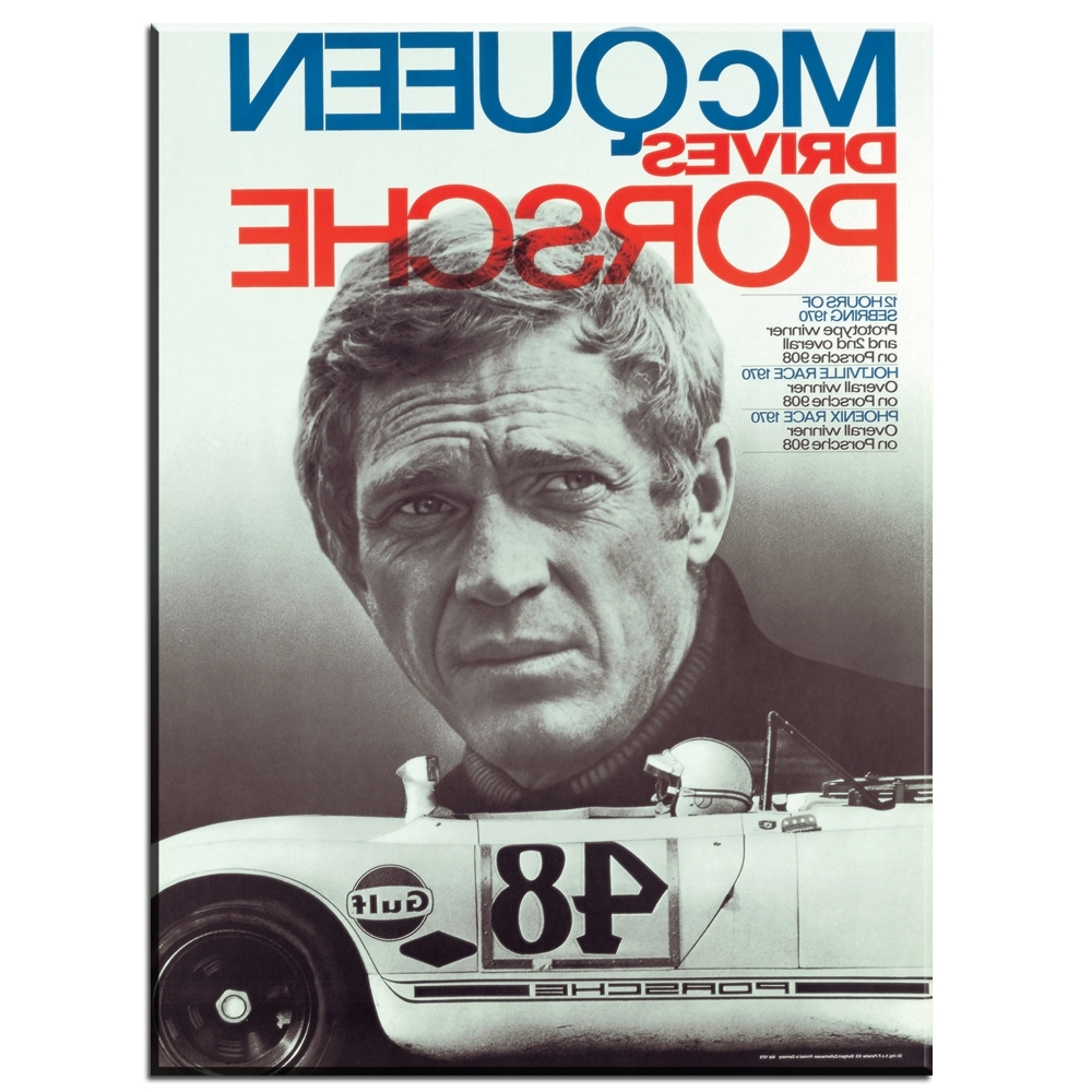 Well Known Zz982 Hd Printed Art Canvas Print Poster Steve Mcqueen Tattoo Intended For Steve Mcqueen Wall Art (View 14 of 15)