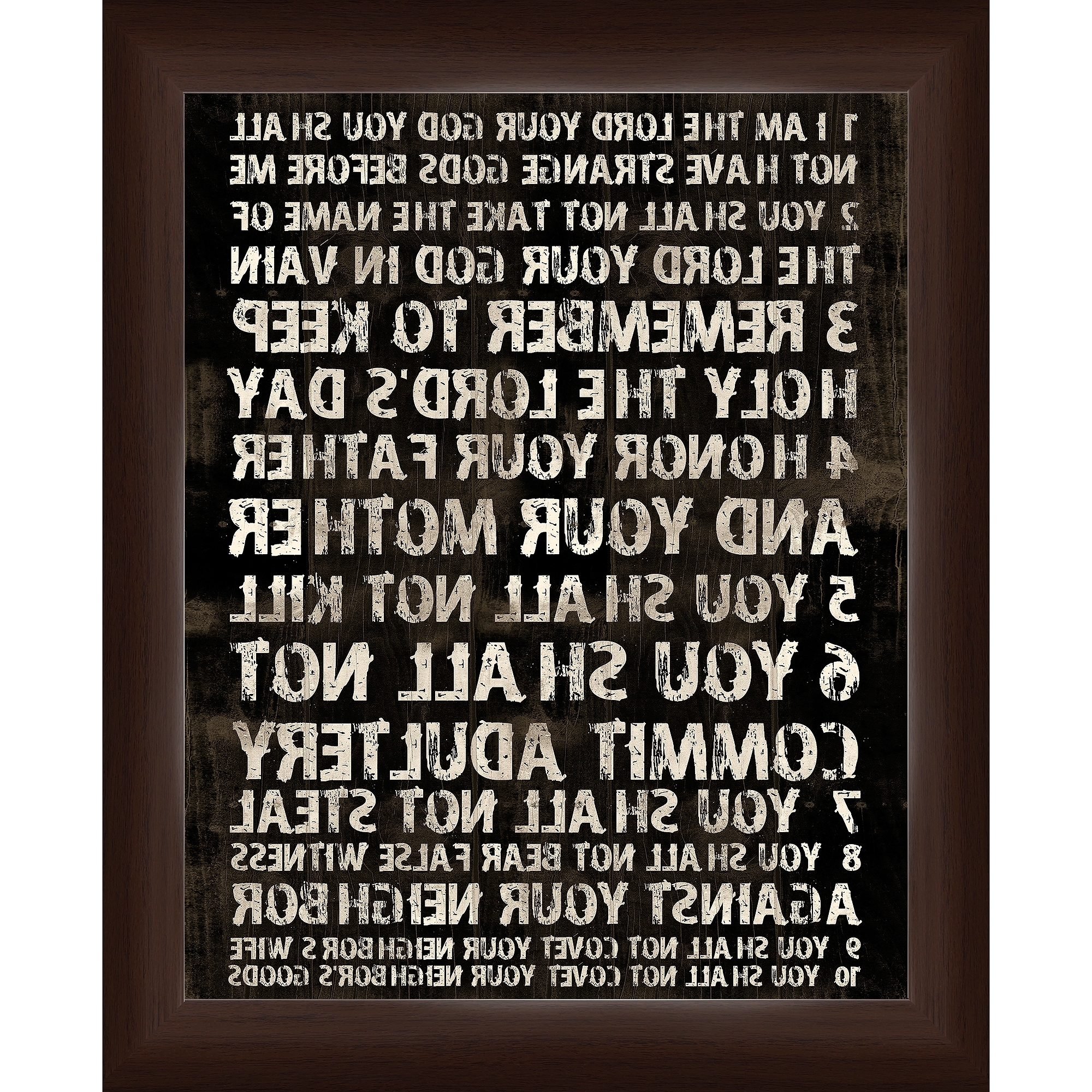 Well Liked 10 Commandments Wall Art – Walmart In Ten Commandments Wall Art (View 15 of 15)