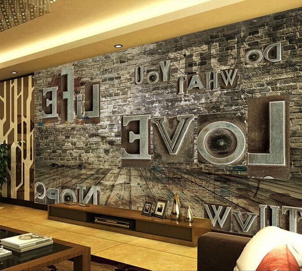 Well Liked 25+ Cool 3D Wall Designs, Decor Ideas (View 14 of 15)