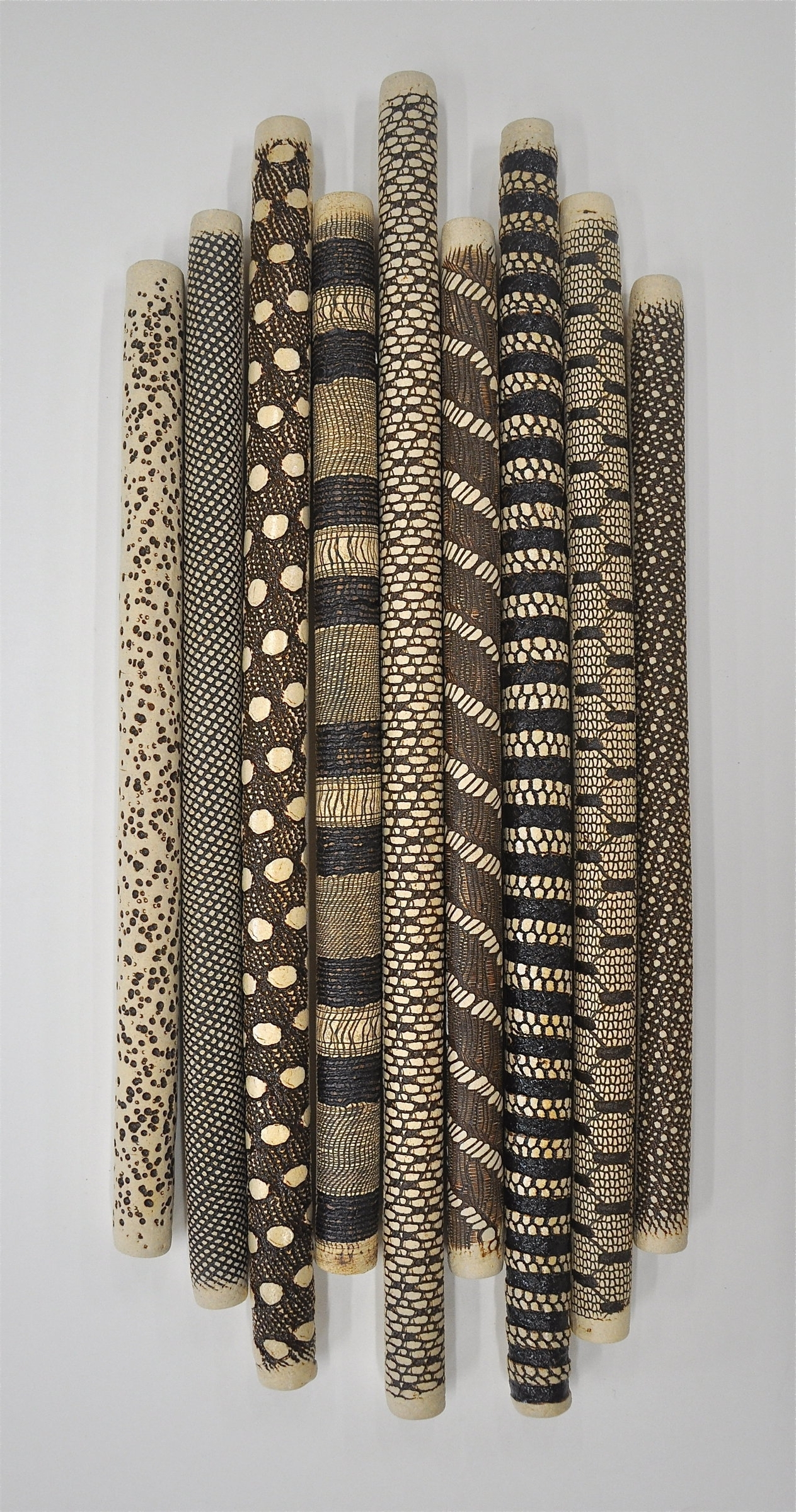 Well Liked 9 Piece Installationkelly Jean Ohl (ceramic Wall Sculpture Intended For Large Ceramic Wall Art (View 7 of 15)