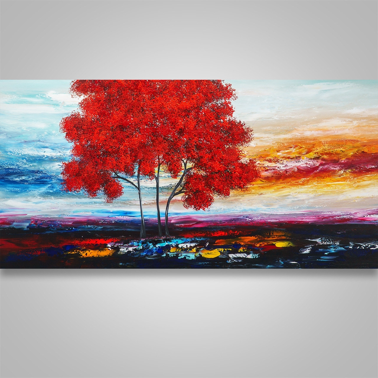 Well Liked Abstract Landscape Wall Art Throughout Abstract Painting,wall Decor, Home Decor, Abstract Wall Art, Tree (View 13 of 15)