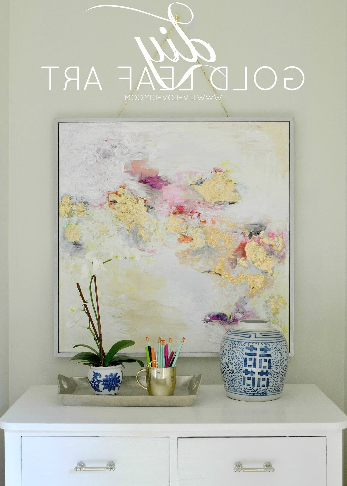 Well Liked Affordable Abstract Wall Art For Livelovediy: How To Make Gold Leaf Art (Round Two)! (View 13 of 15)