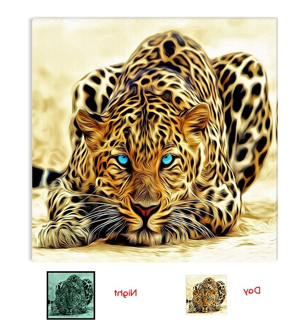 Well Liked Animal Canvas Wall Art With Amazon: Startonight Canvas Wall Art Leopard, Animals Usa (View 15 of 15)