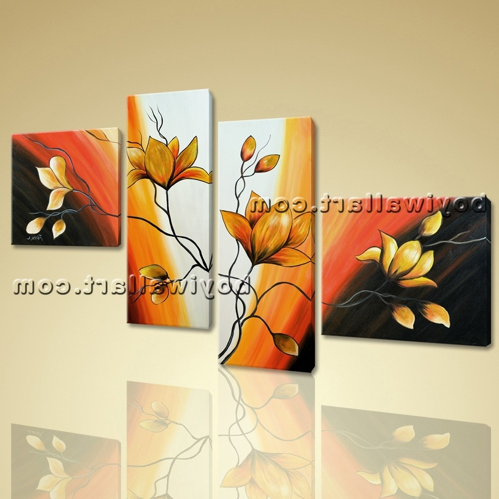 Displaying Photos of Abstract Floral Wall Art (View 12 of 15 Photos)