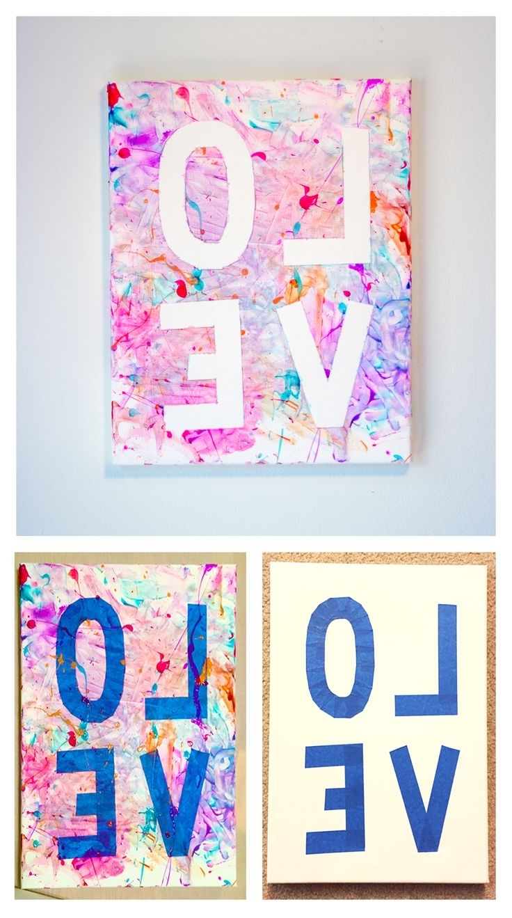 Well Liked Best 25+ Kids Canvas Art Ideas On Pinterest (View 10 of 15)