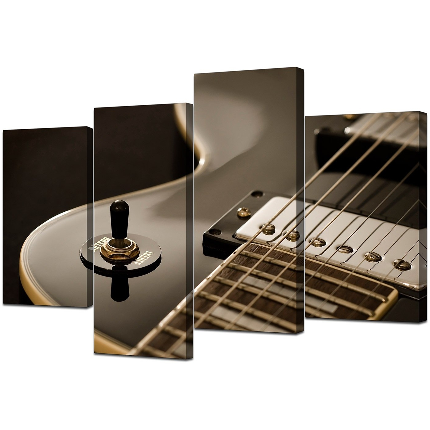 Well Liked Canvas Prints Of Guitar In Black & White For Your Teenage Boys Bedroom Pertaining To Guitar Canvas Wall Art (View 15 of 15)