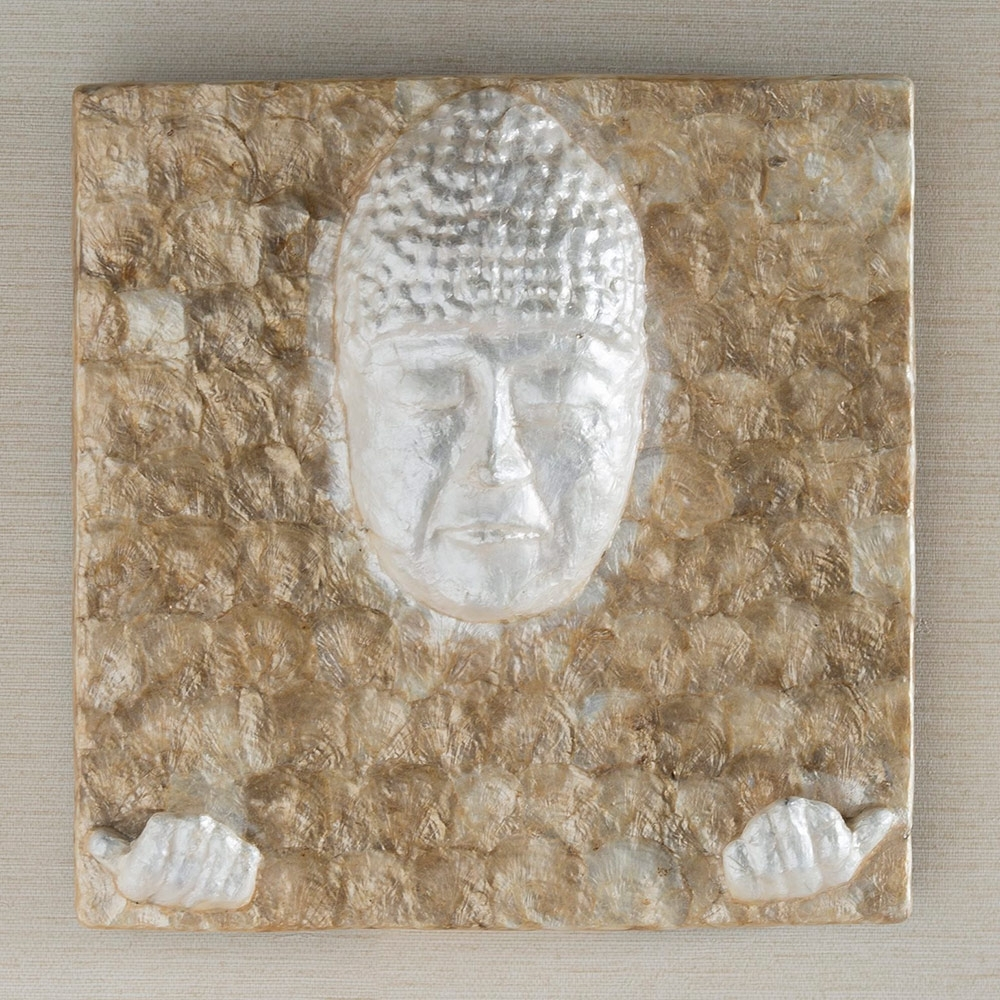 Well Liked Capiz Shell Wall Art Pertaining To Iridescent Capiz Buddha Wall Art (View 15 of 15)