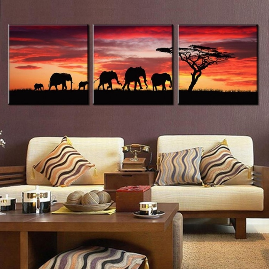 Well Liked Cheap Modern Wall Art Intended For Living Room: Contemporary Living Room Furniture Features African (View 8 of 15)