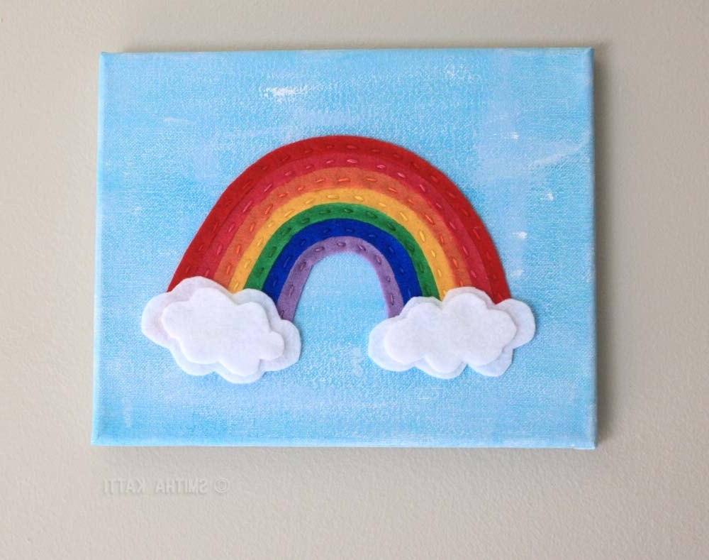 Well Liked Childrens Wall Art Canvas With Regard To Kids Wall Art, Rainbow Decor, Rainbow Baby, Cute Wall Art, Nursery (View 15 of 15)