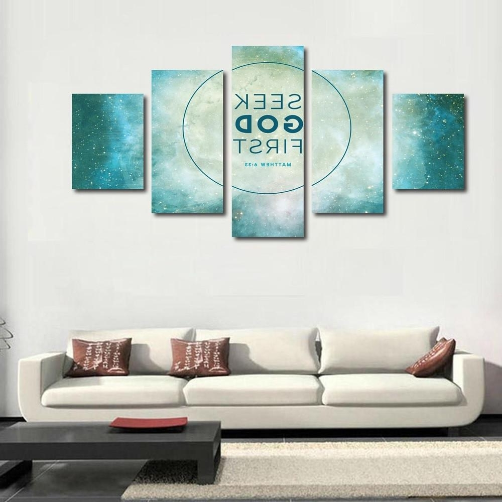Well Liked Christian Wall Art Canvas Pertaining To Matthew 6:33 Bible Verse Canvas Wall Art (View 4 of 15)