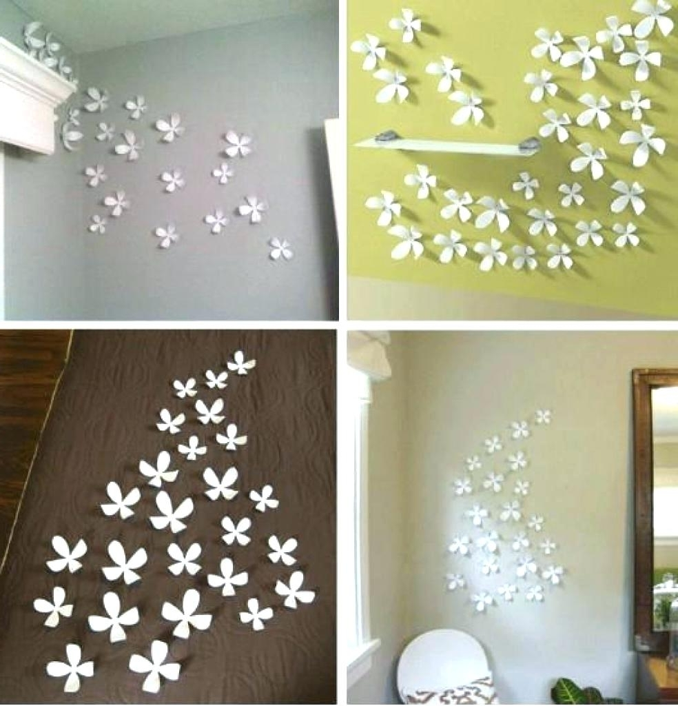 Well Liked Diy 3D Wall Art Decor Inside Wall Arts ~ 148 Diy Wall Decor Using Fabric Chic Flower Wall Art (View 14 of 15)