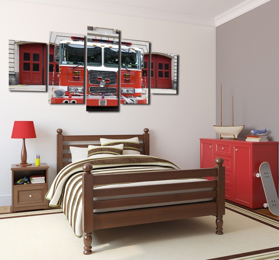 Well Liked Fire Truck Wall Art Within Buy Truck Wall Art And Get Free Shipping On Aliexpress (View 10 of 15)