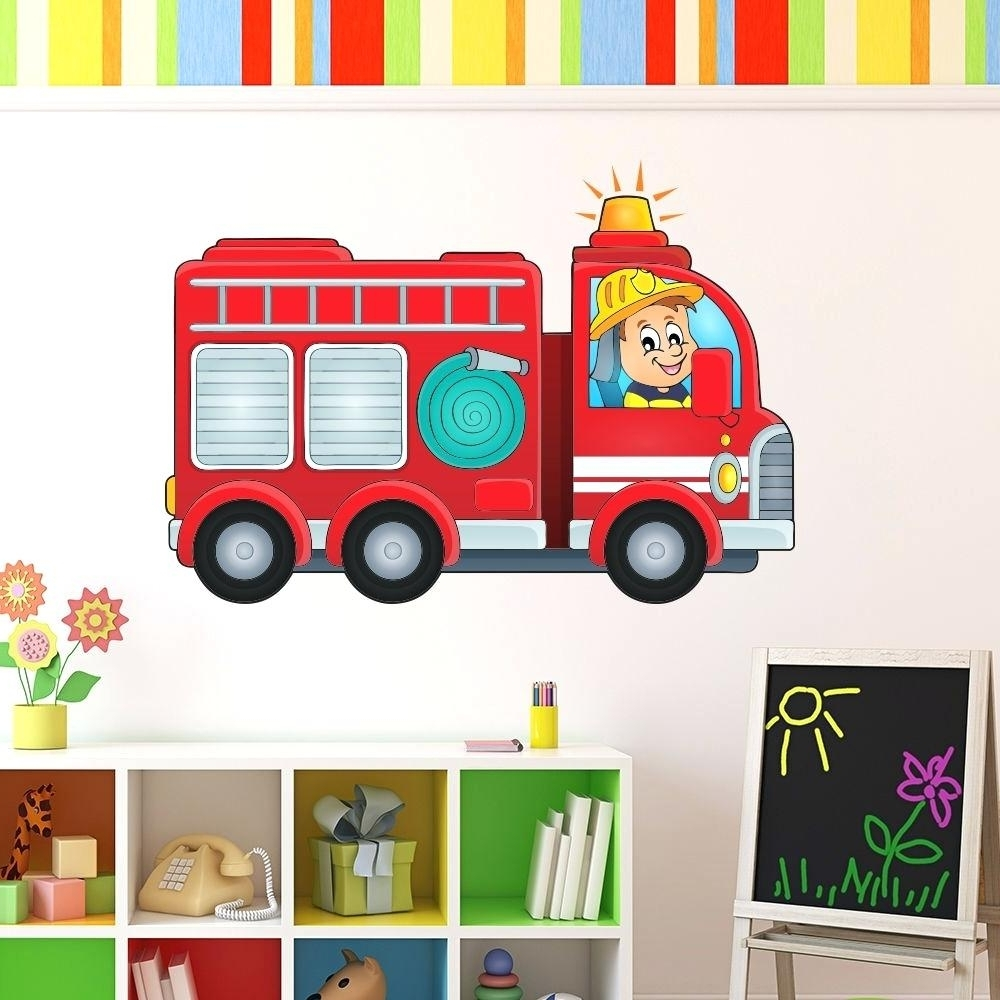 Well Liked Fire Truck Wall Art Within Fire Engine Wall Decals Wall Fire Truck Wall Art Fire Truck Wall (View 15 of 15)