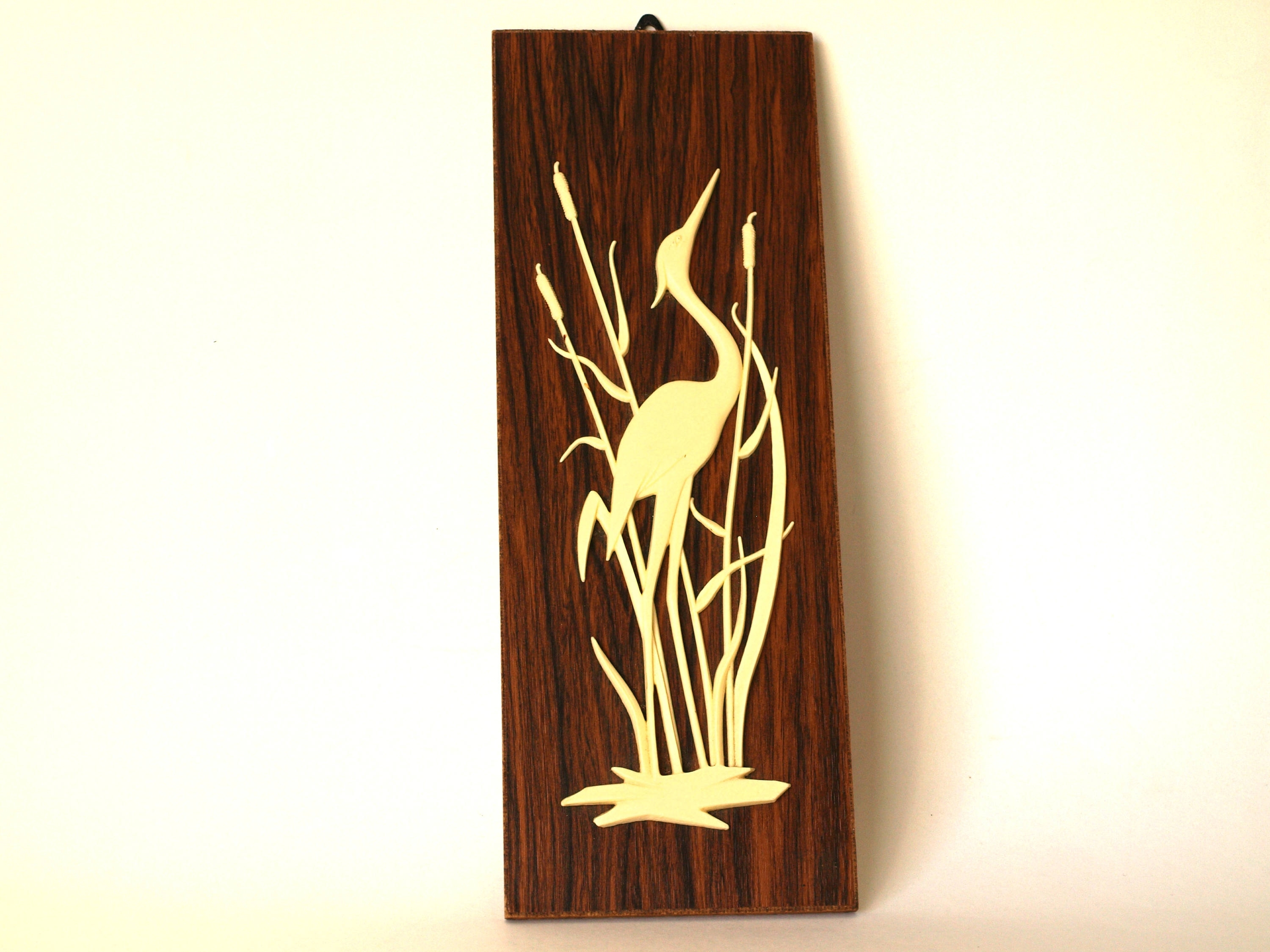 Well Liked Heron Reeds Bird Wooden Wall Hanging U2013 Mid Century 3D Stork  Water In 3D