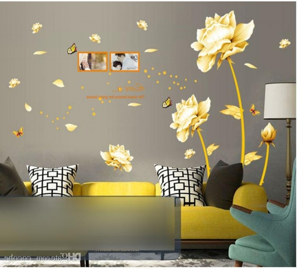 Well Liked Home Decor Wall Art Stickers Set 3D Butterfly Mirror Effect Wall Throughout 3D Effect Wall Art (View 15 of 15)